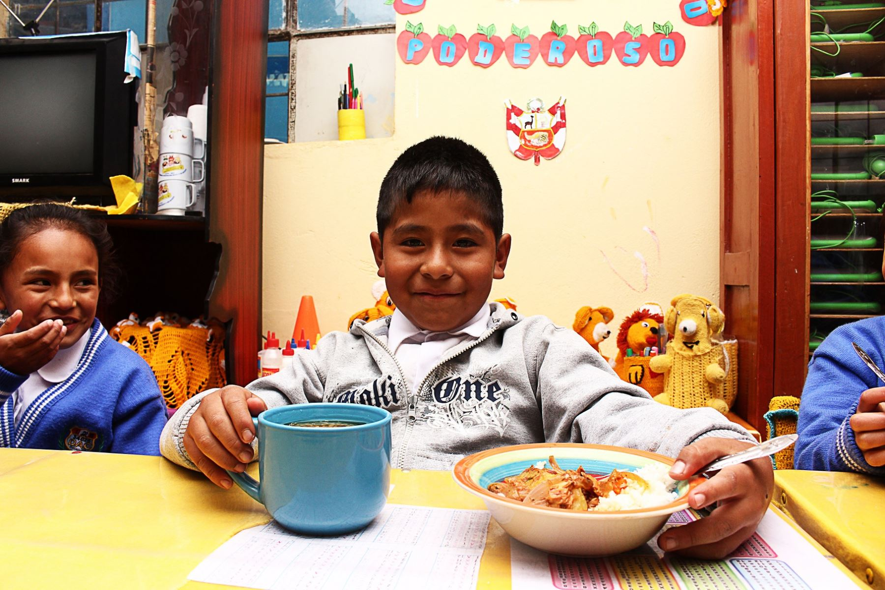 Qali Warma entregará 46 toneladas de quinua a los colegios de Pasco. ANDINA/Difusión