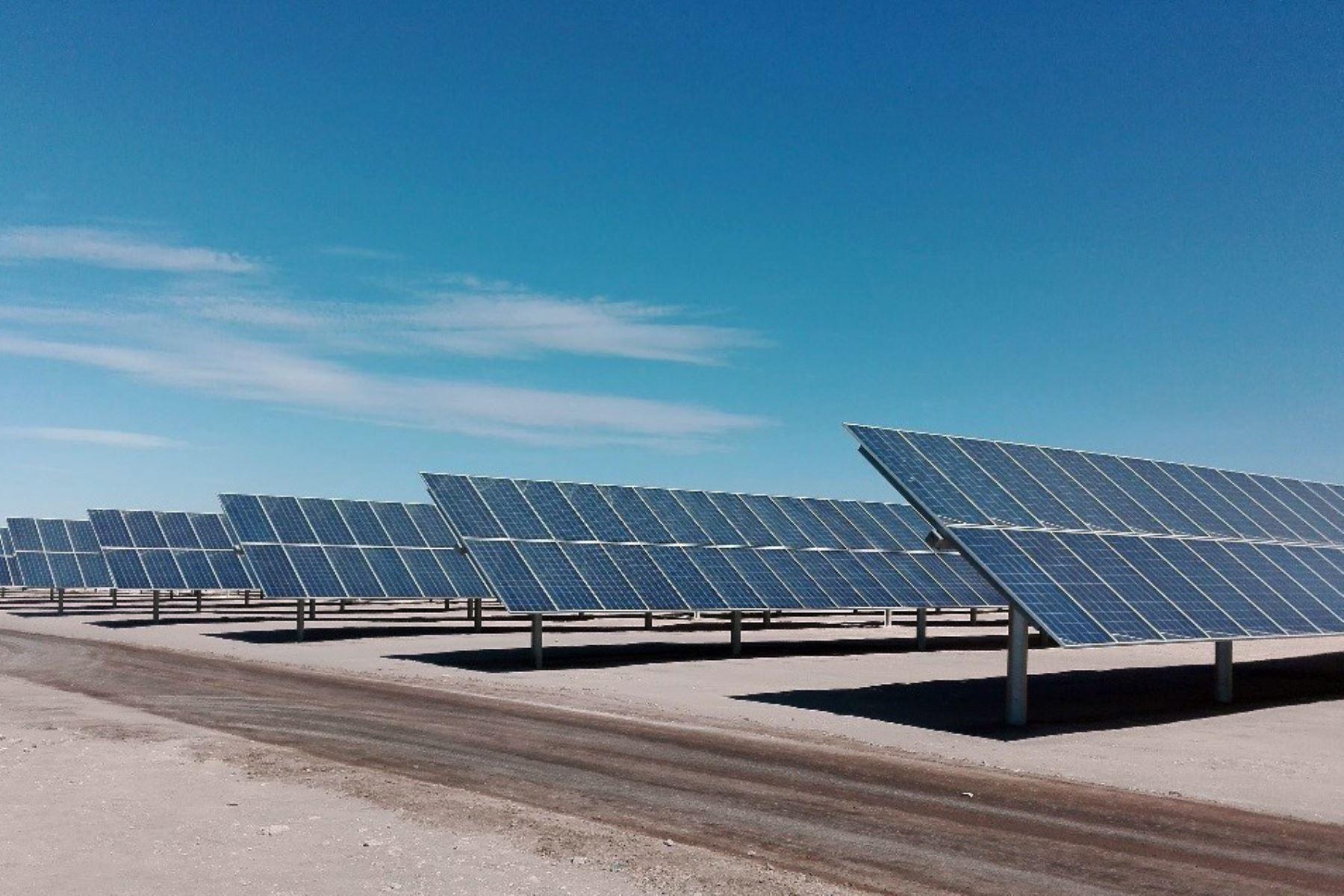 Energía solar. ANDINA/Difusión