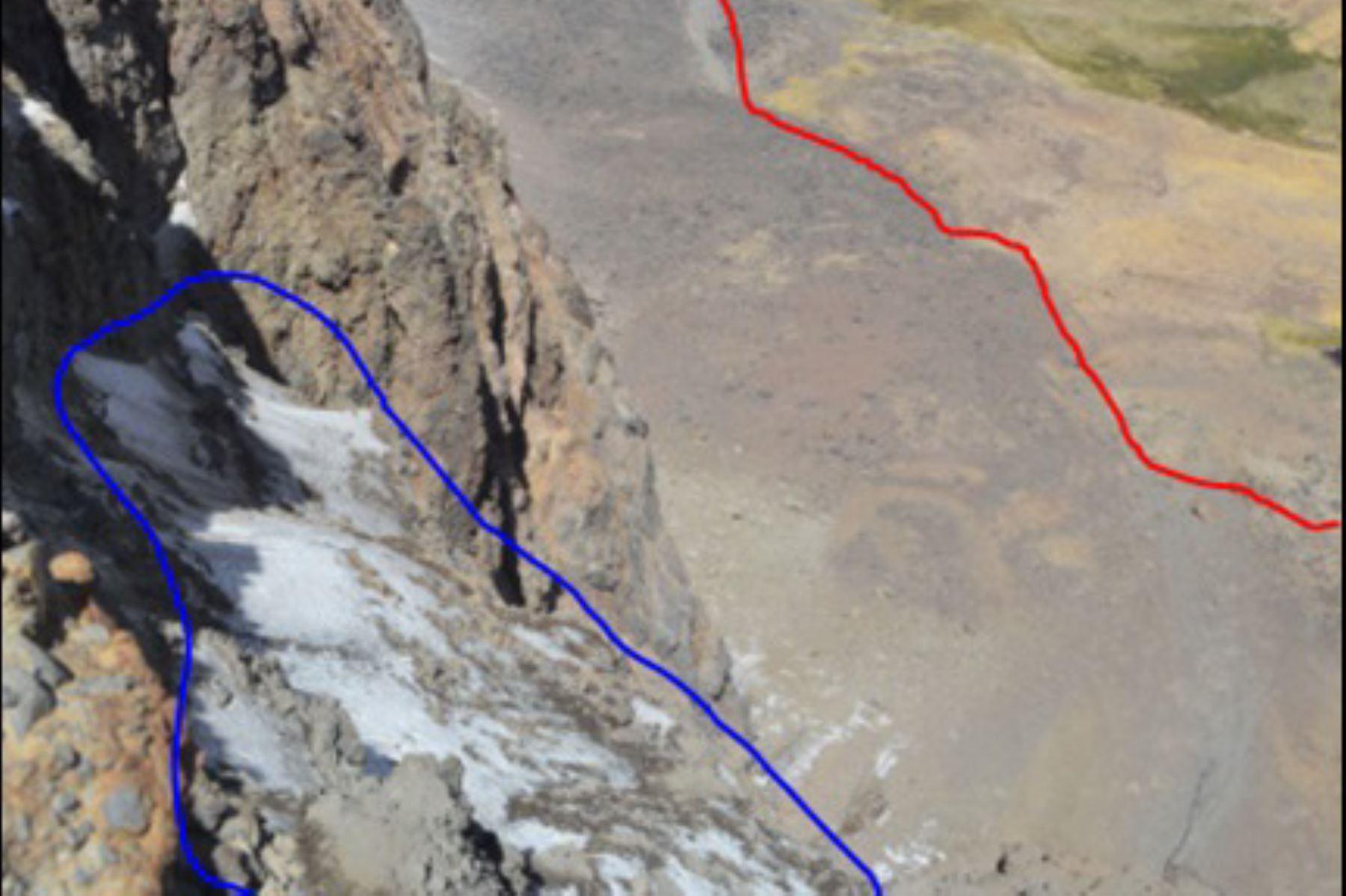 Retroceso glaciar amenaza a la Cordillera Chila, en Arequipa. ANDINA/Difusión