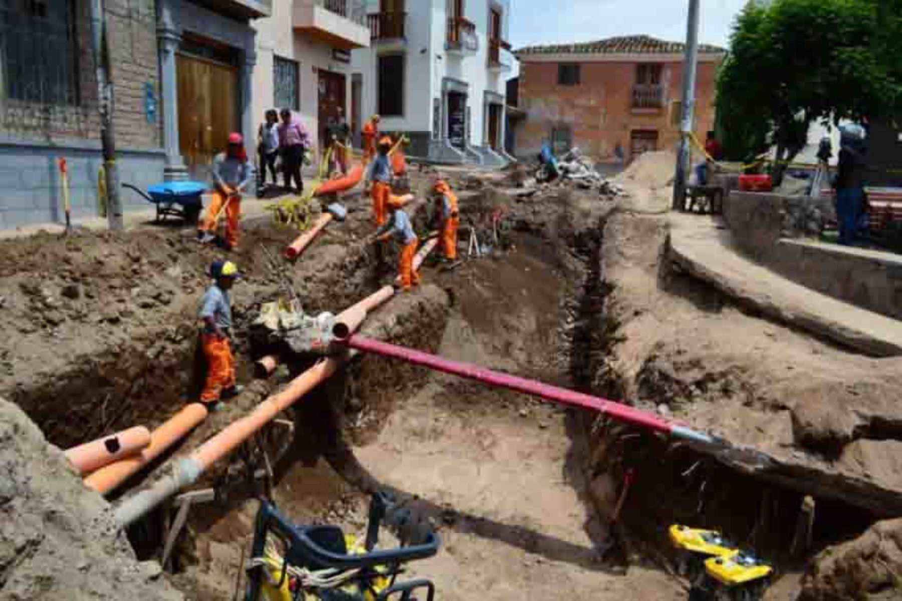 Obras de saneamiento. Foto: ANDINA/Difusión