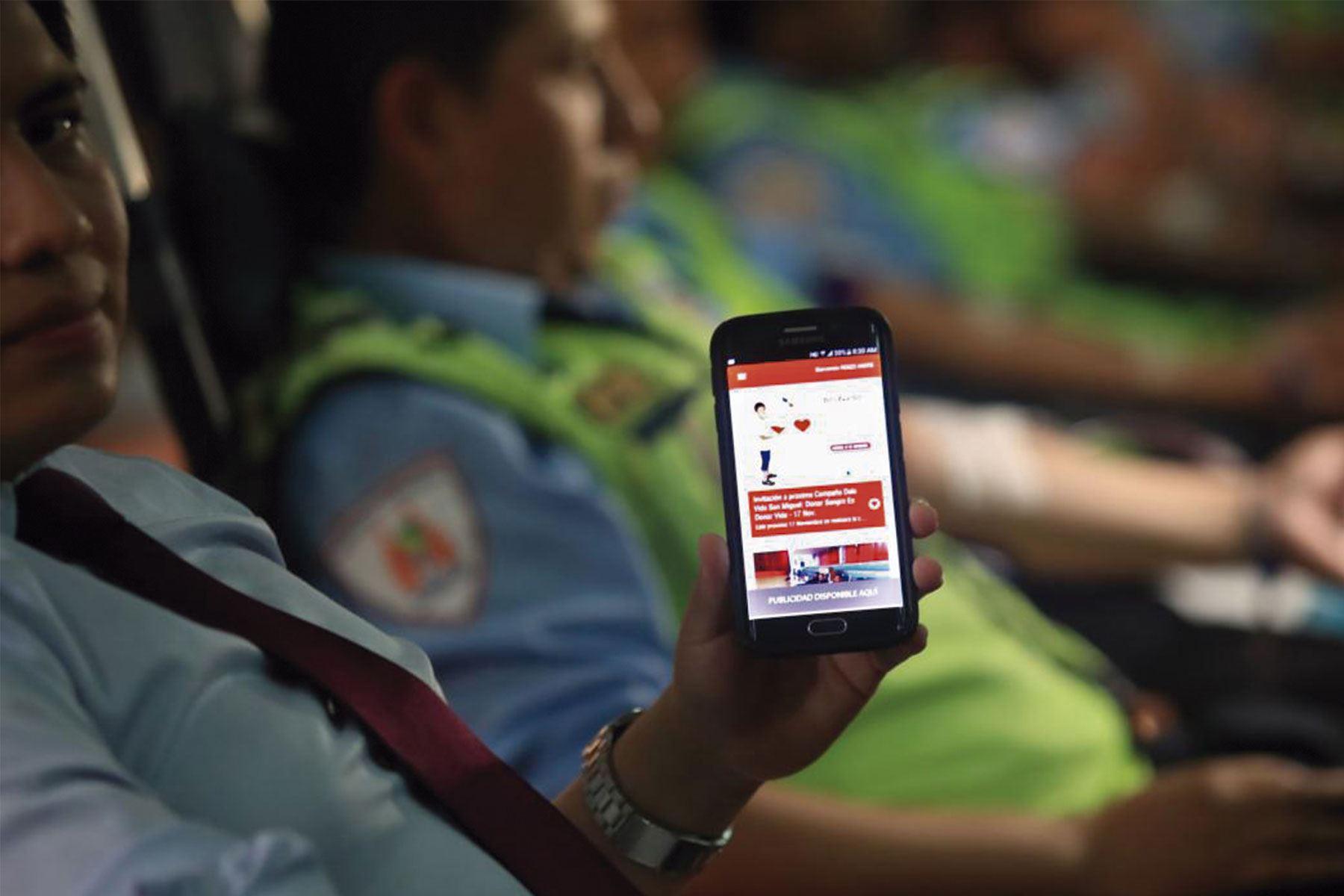 Aplicativo facilitará la donación de sangre en el Perú