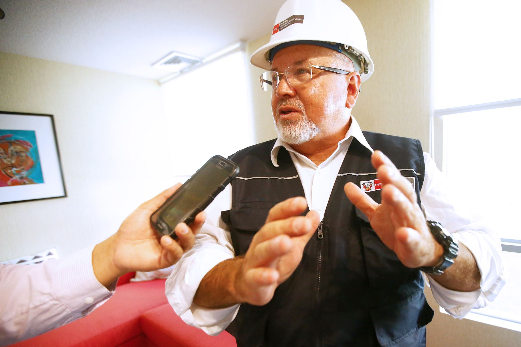 """LIMA PERÚ - ENERO 21. Ministro de Vivienda, Carlos Bruce lanza crédito """"Mi Vivienda Verde"""". Foto: ANDINA/Melina Mejía"""