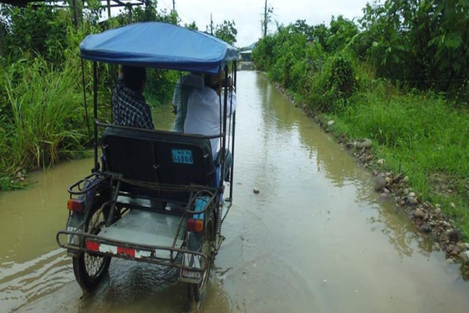 Lluvias constantes en San Martín inunda urbanización en Juanjuí