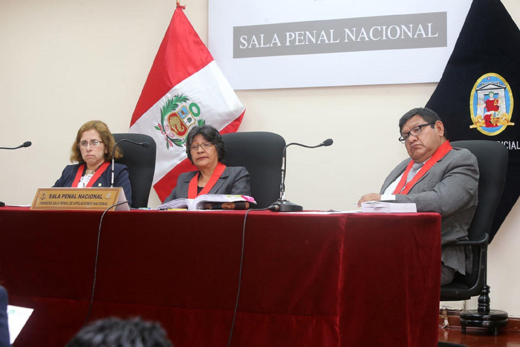 Jueces de la Primera Sala Penal de Apelaciones Nacional.