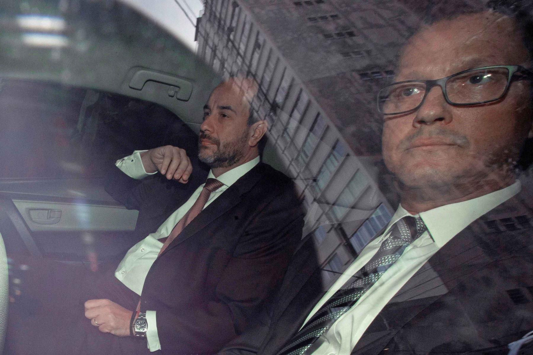 Jorge Barata llega a la sede del Ministerio Público en Sao Paulo (Brasil). Foto: EFE.