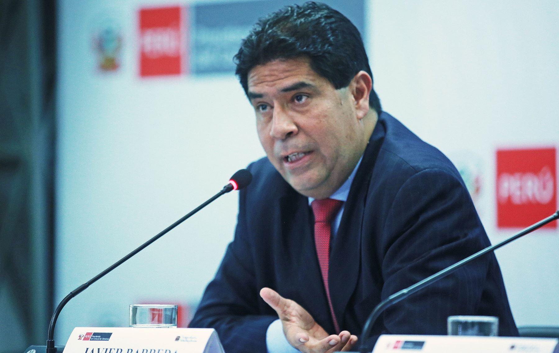Ministro de Trabajo y Promoción del Empleo, Javier Barreda.ANDINA/Jhony Laurente