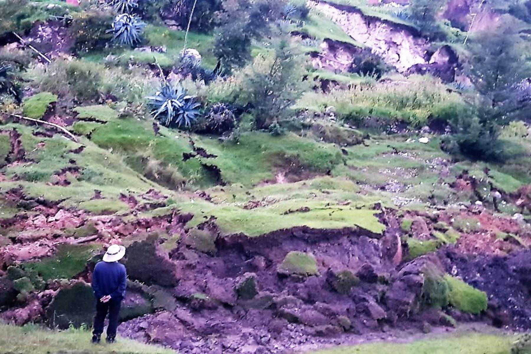 Afectados por falla geológica en Cusco piden ayuda humanitaria. ANDINA