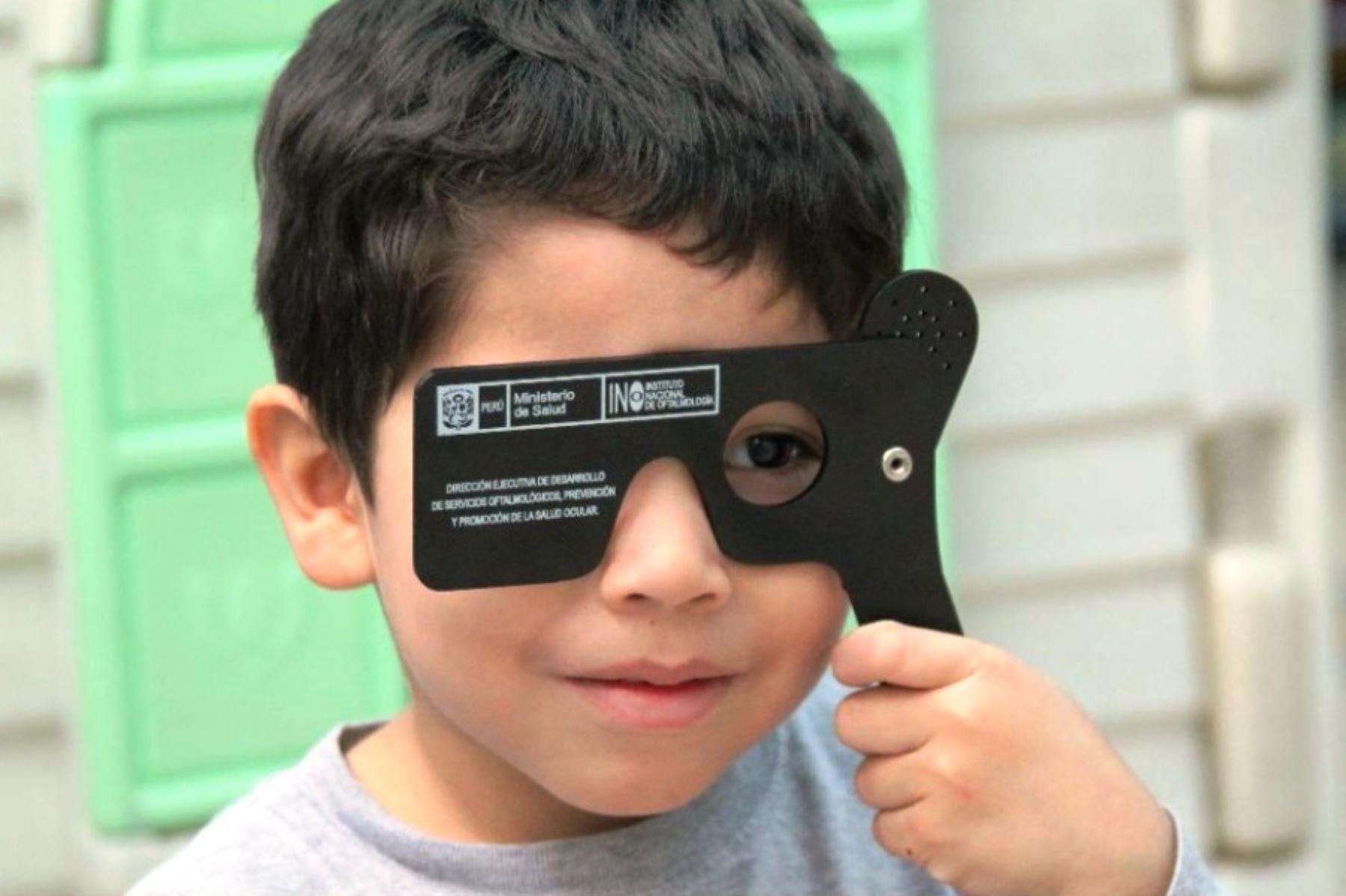 Problemas visuales en escolares deben descartarse antes del inicio de clases. Foto: ANDINA/Difusión.