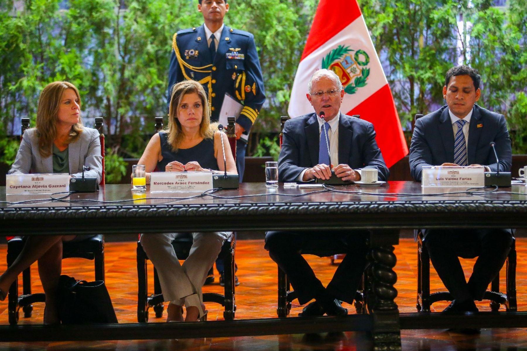 Presidente Pedro Pablo Kuczynski participa del 7mo GORE Ejecutivo, que reúne a ministros de Estado con los gobernadores regionales en Palacio de Gobierno. Foto: ANDINA/ Prensa Presidencia
