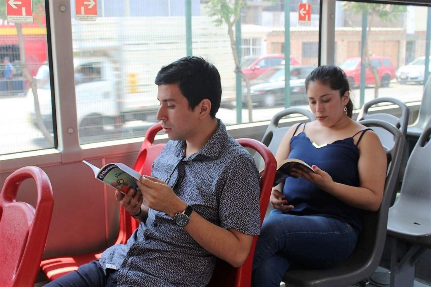 Bibliometro lanza préstamo de libros en la estación Matellini del Metropolitano. Foto: ANDINA/Difusión.