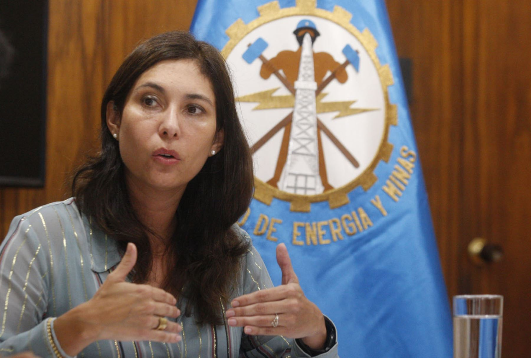 Ministra de Energía y Minas, Ángela Grossheim. ANDINA/Eddy Ramos