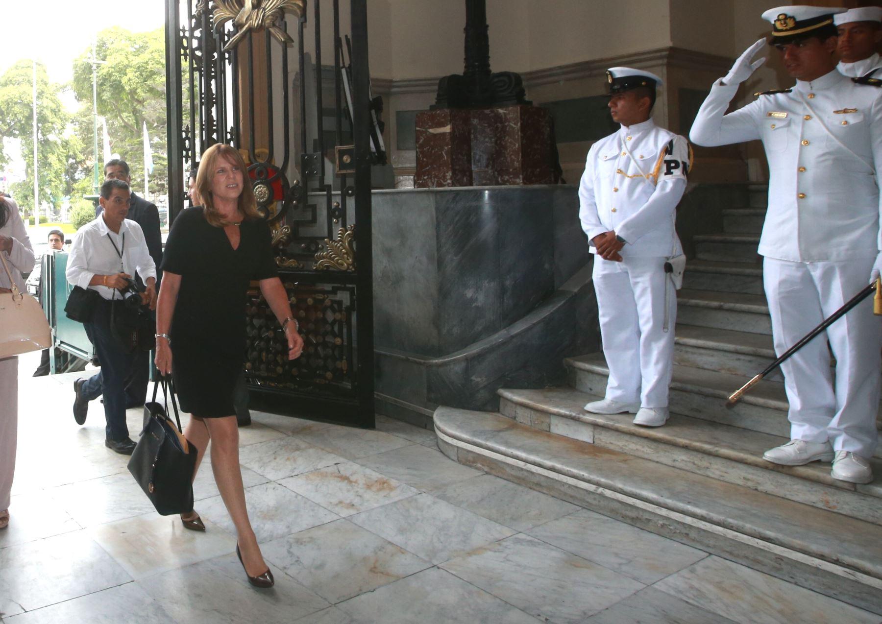 Cayetana Aljovín. Ministra de Relaciones Exteriores. También ha desempeñado diversos cargos en el actual gobierno, como titular de Desarrollo e Inclusión Social, y de Energía y Minas, entre otros. ANDINA/ Jhony Laurente