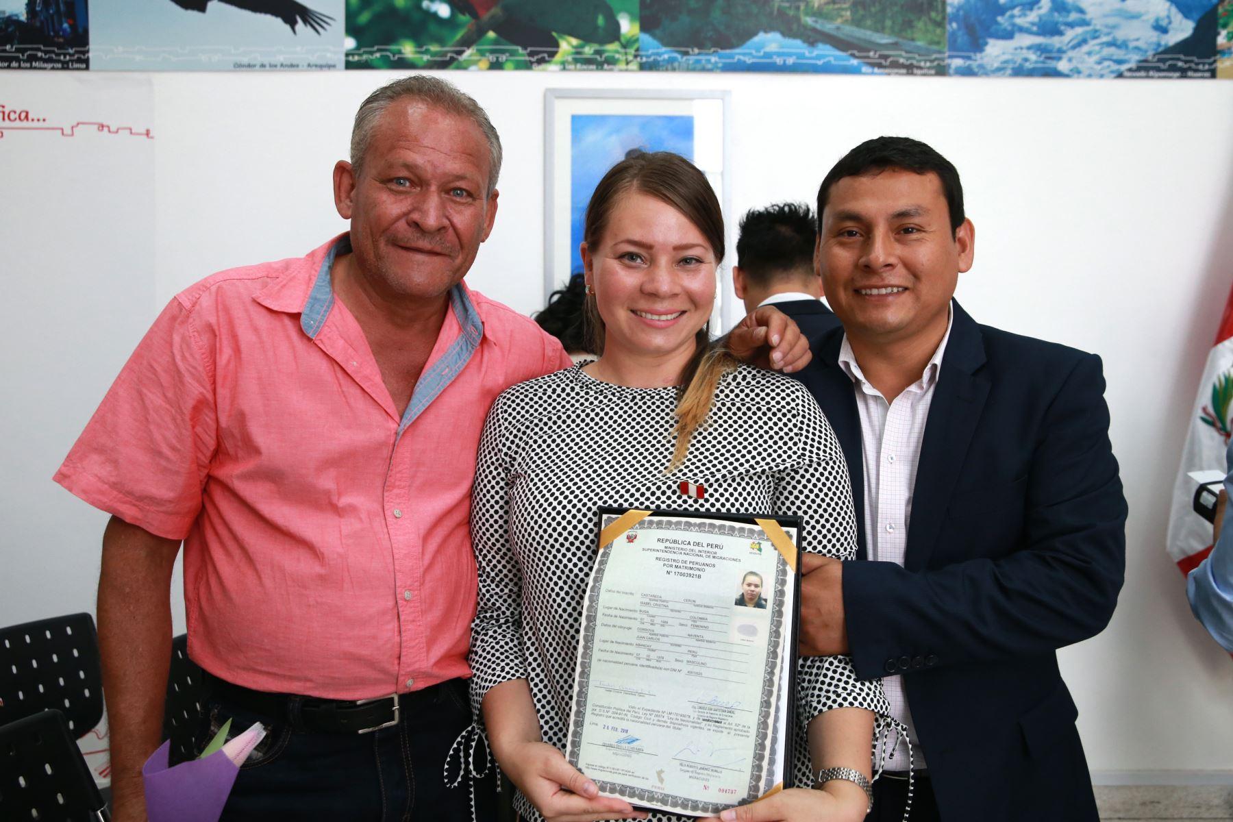 Isabel Cristina Castañeda Ceron, Colombiana . Foto: ANDINA/Norman Córdova