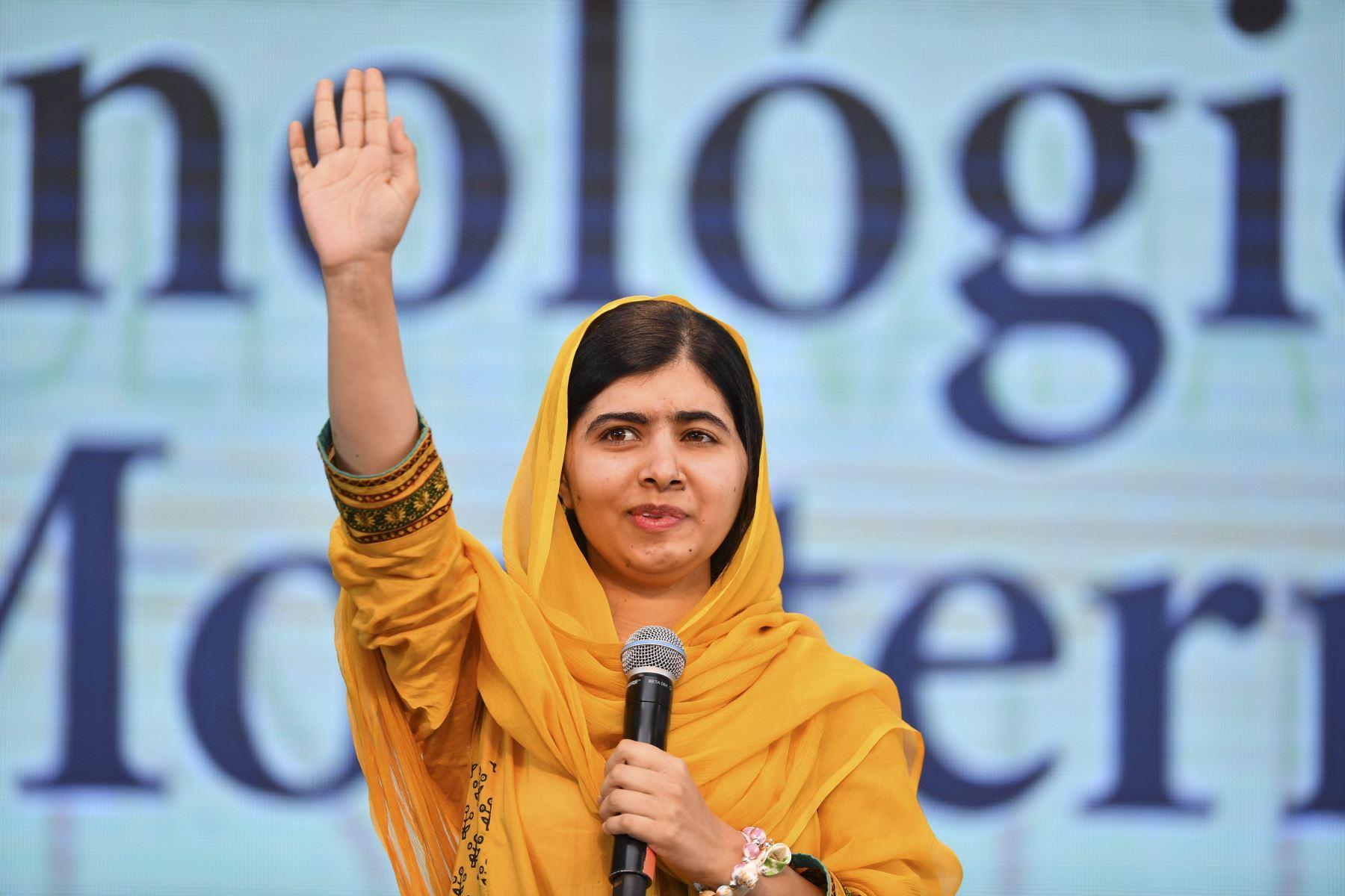"""Malala Yousafzai (Activista y bloguera) """"Así que sí, soy feminista, y todas deberíamos serlo, porque la palabra feminismo no es otra cosa que igualdad"""". Foto: AFP"""