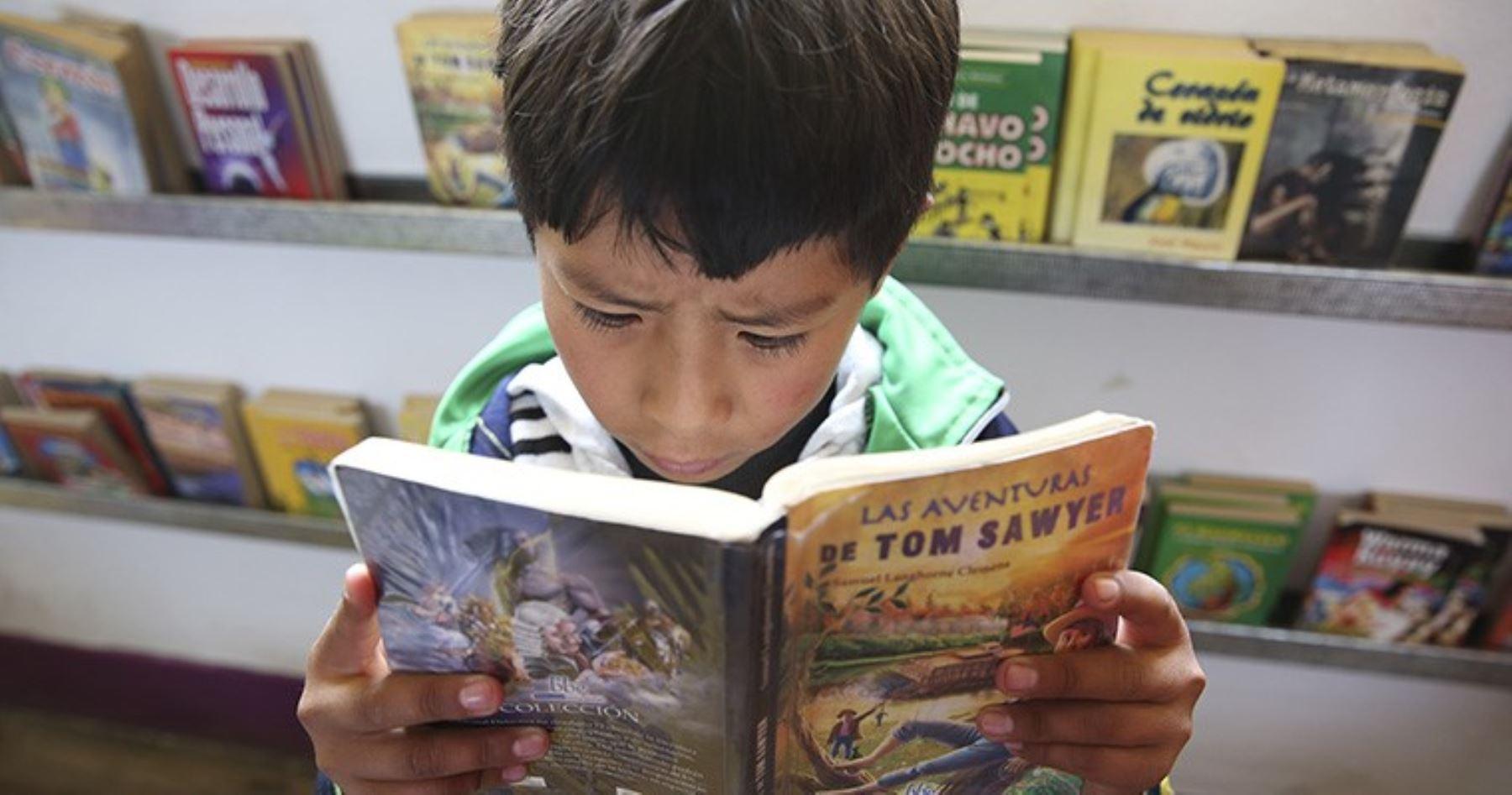 Niño leyendo. Foto: ANDINA/Melina Mejía.