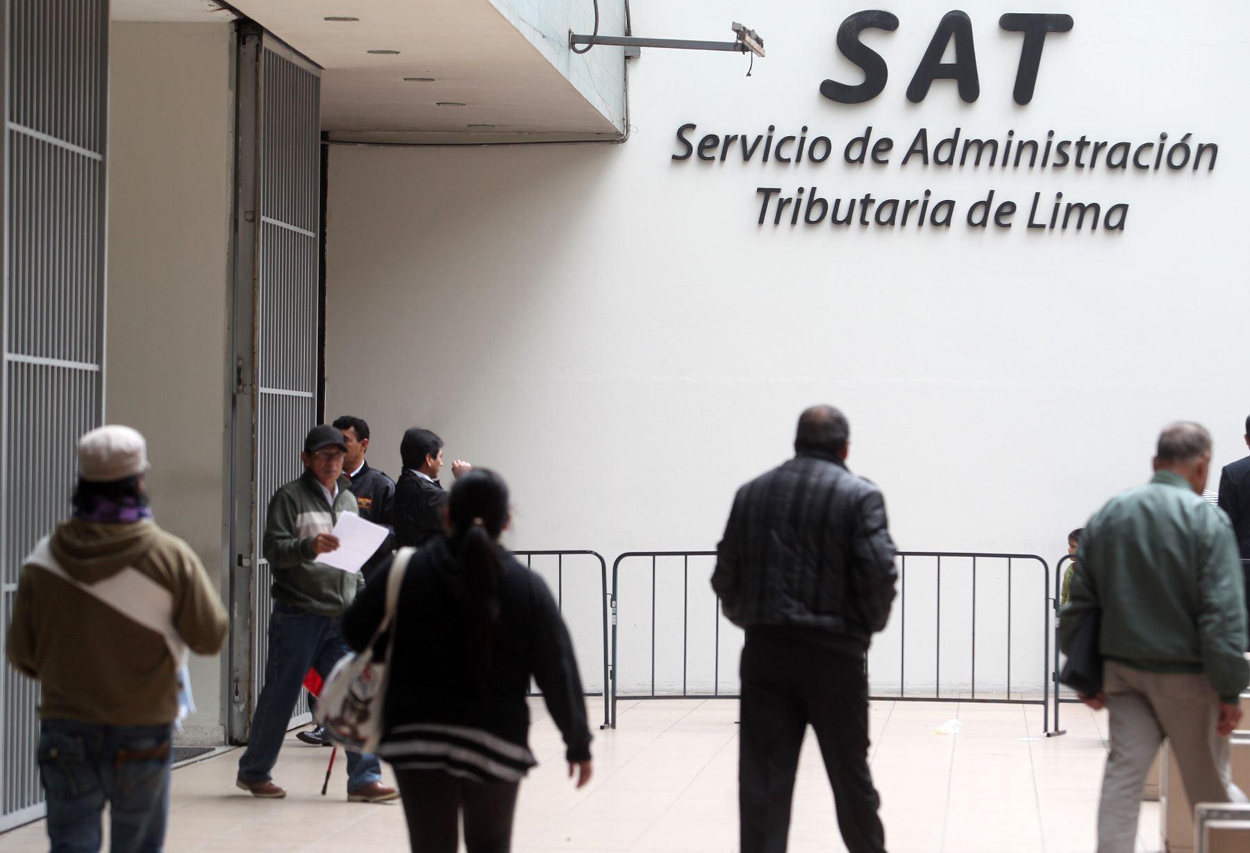 Finalmente y en tercer lugar, está el Servicio de Administración Tributaria de Lima (SAT). Foto: ANDINA/archivo