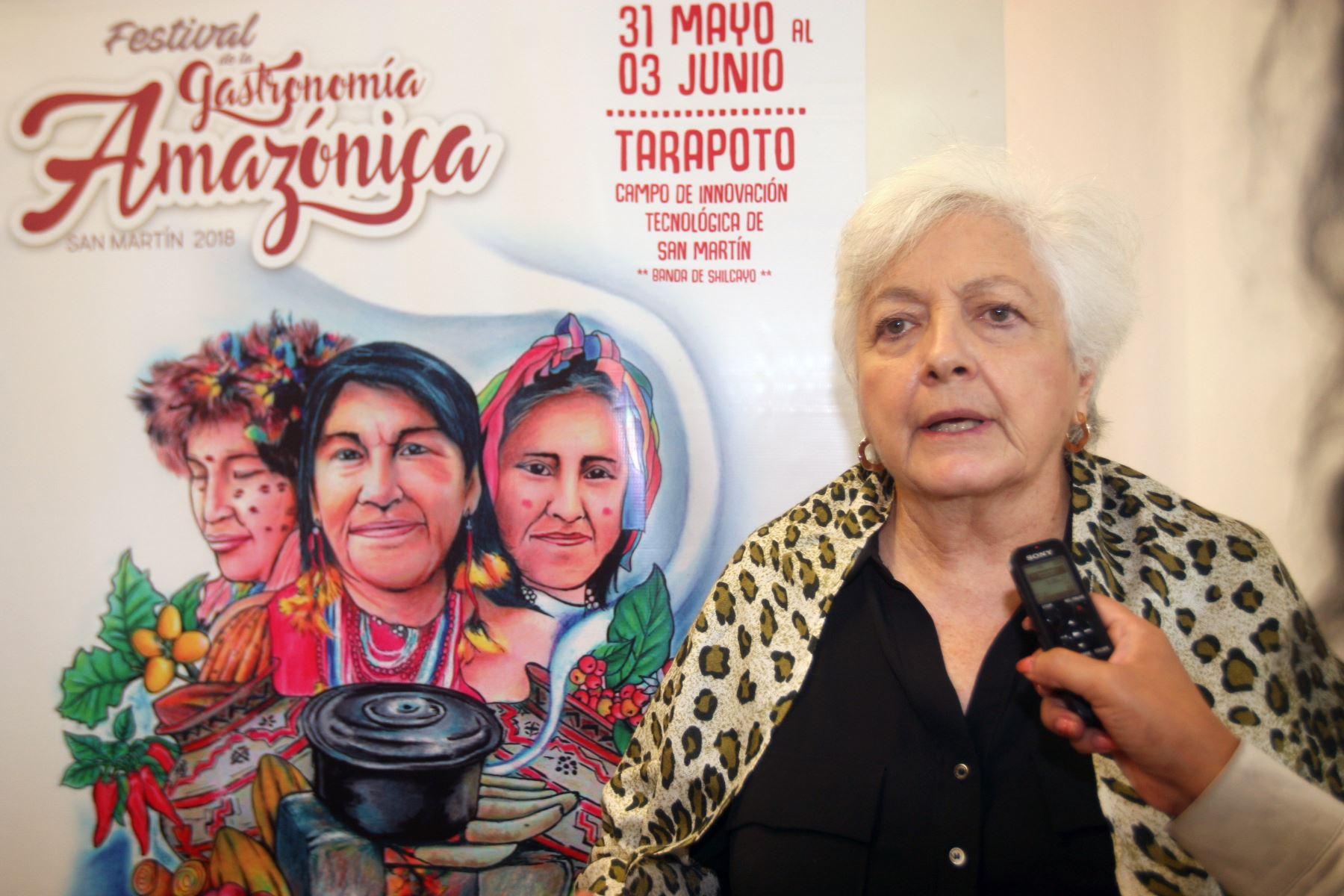 Presidenta ejecutiva de Devida, Carmen Masías, resalta que región San Martín está saliendo de la informalidad e ilegalidad. ANDINA/Héctor Vinces