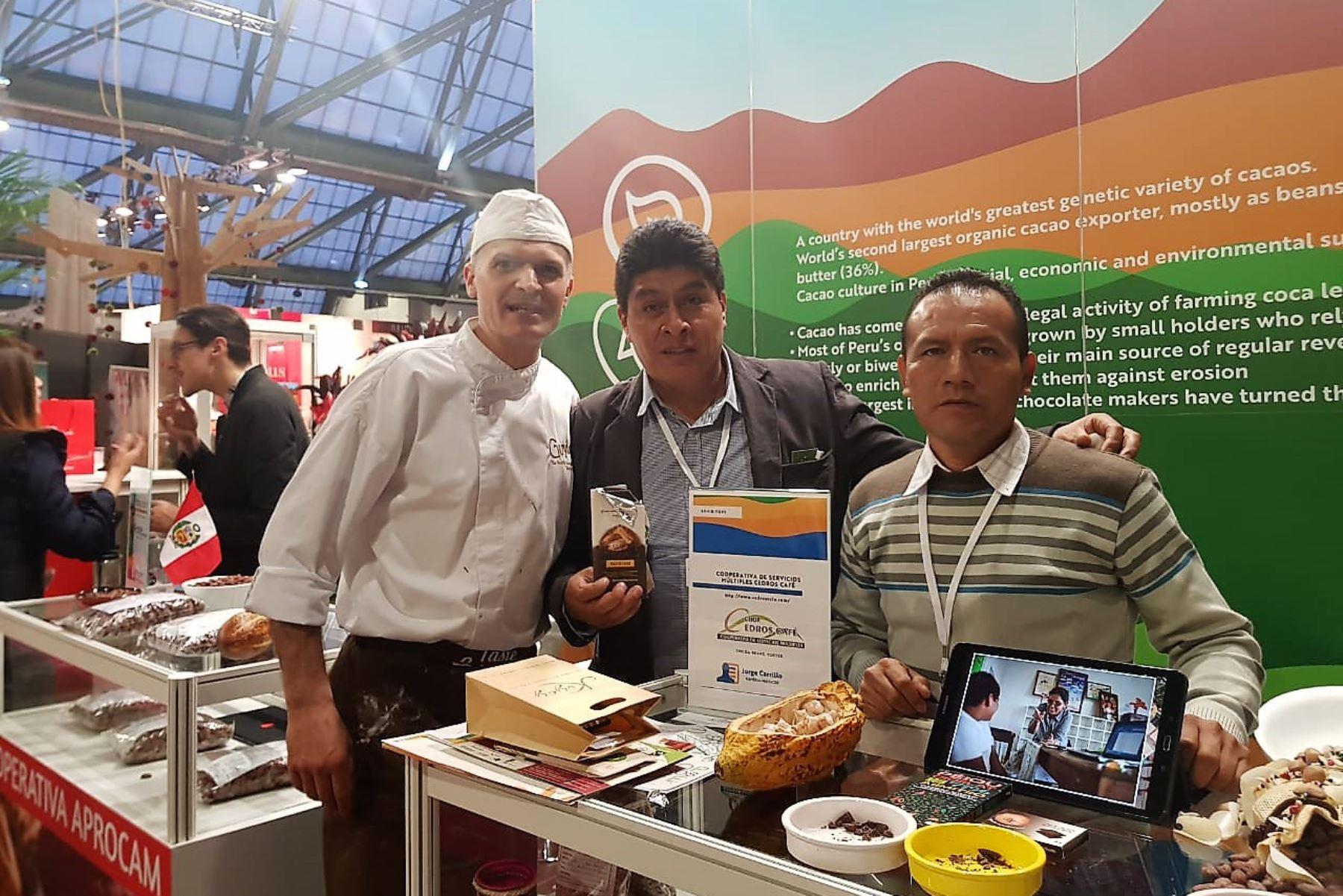 Productores de cacao de Huánuco destacan en Salón del Cacao de Bélgica. ANDINA/Difusión