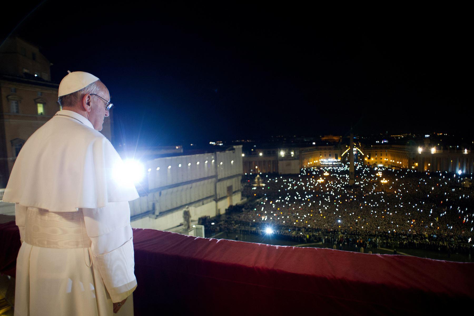 El Cardenal argentino Jorge Mario Begoglio es elegido Papa.Foto: AFP