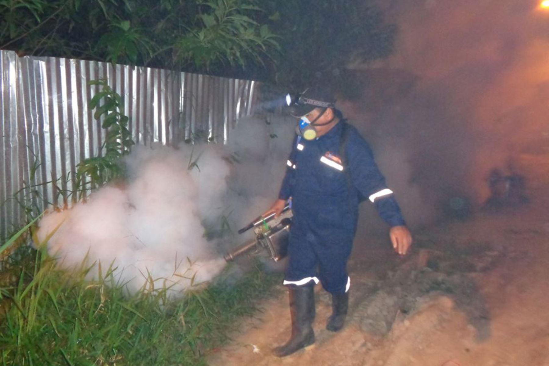 Loreto fumigará 69 colegios y 23,000 casas en Yurimaguas. ANDINA