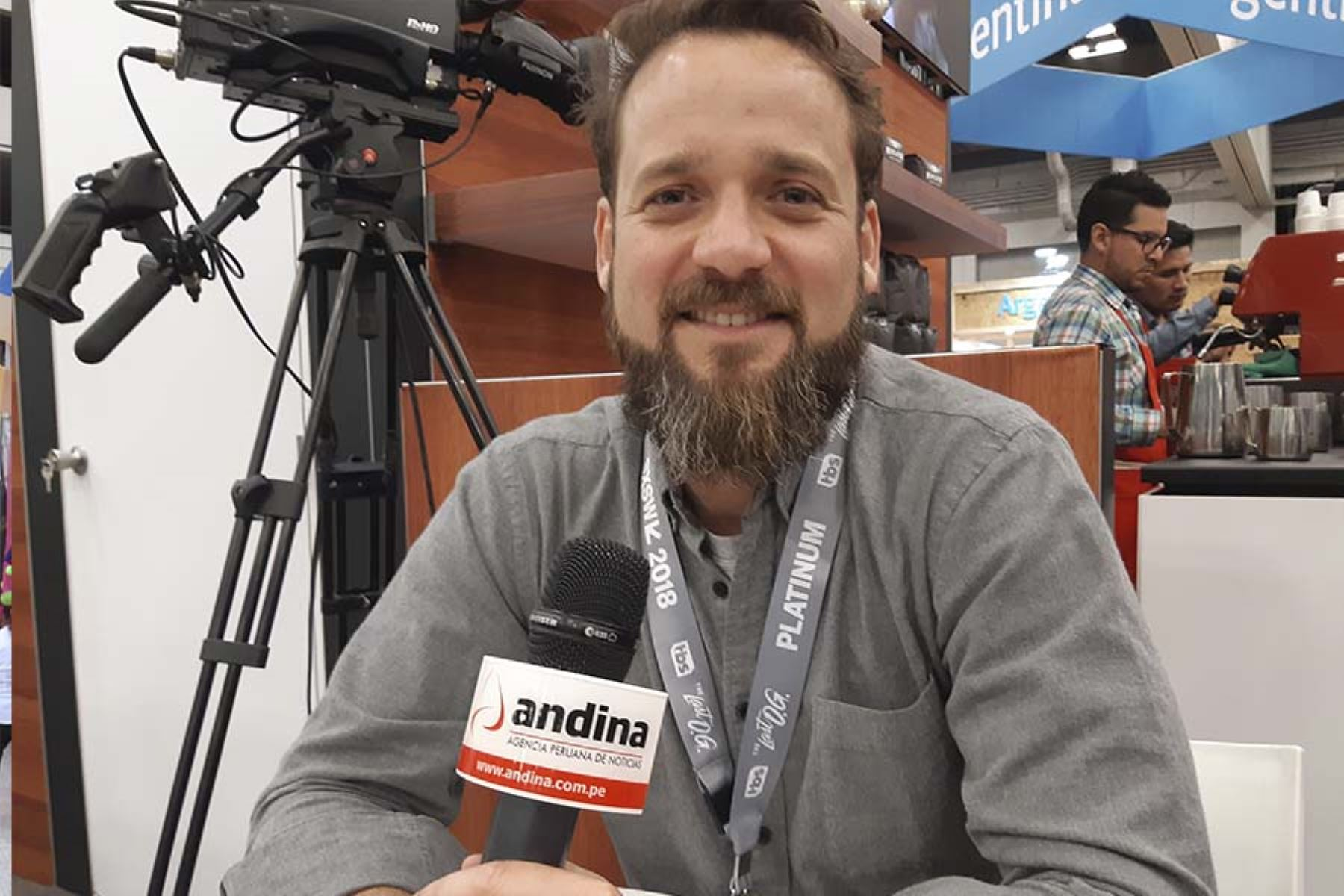 Gonzalo Villarán, director de innovación de Produce, en entrevista con la Agencia Andina. Foto: ANDINA