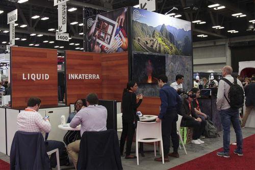 Promperú y Produce habilitaron un stand para fomentar las negociaciones de diez emprendimientos peruanos. Foto: Promperú