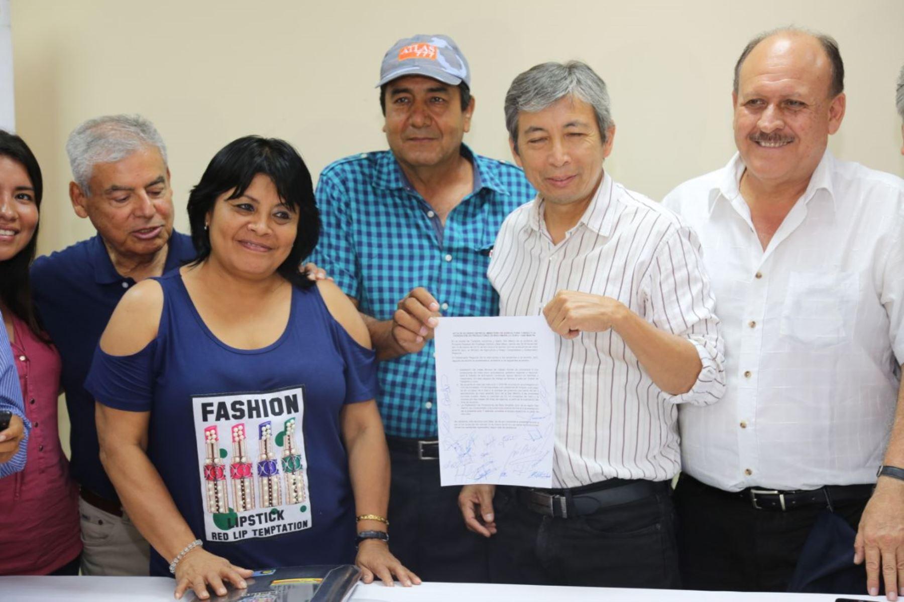 Productores de maíz de San Martín firman acuerdo y levantan huelga. ANDINA/Difusión
