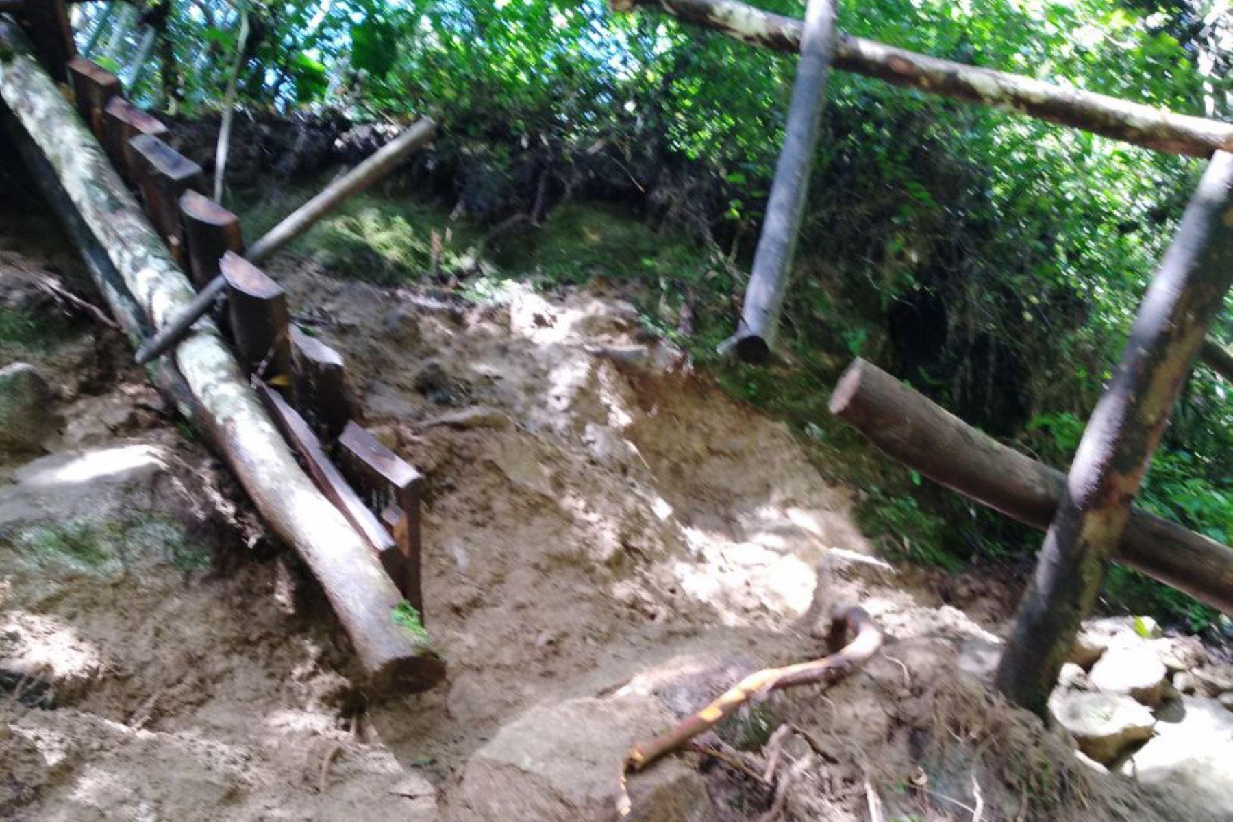 Deslizamiento obliga a suspender acceso a Wiñaywayna en Machu Picchu.