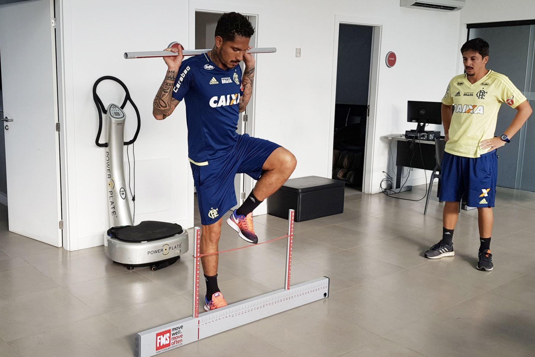 20/03/2018   Paolo Guerrero se reintegró a los entrenamientos del Flamengo .Foto:ANDINA/Twiter Flamengo