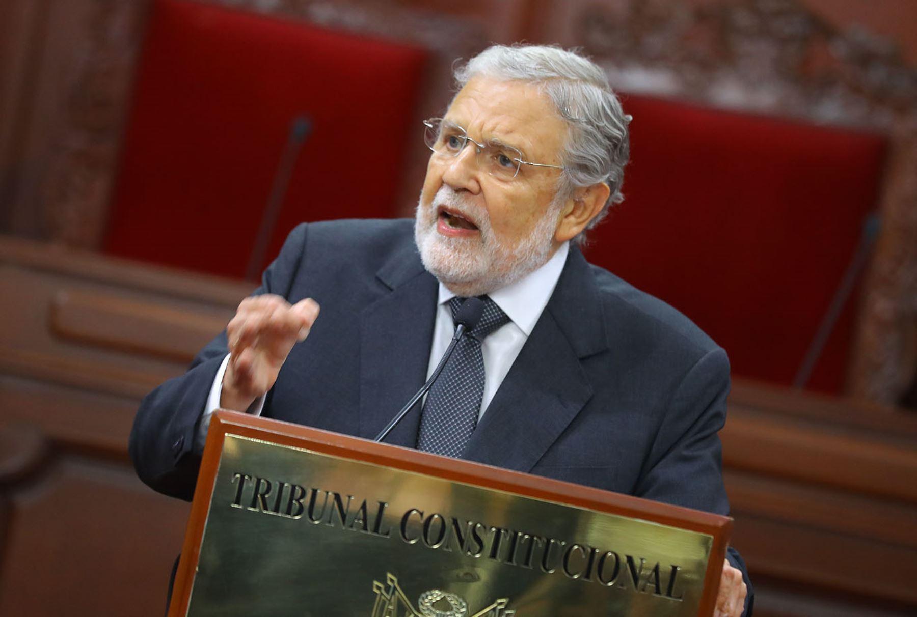 Presidente del Tribunal Constitucional, Ernesto Blume. Foto: ANDINA/Andrés Valle