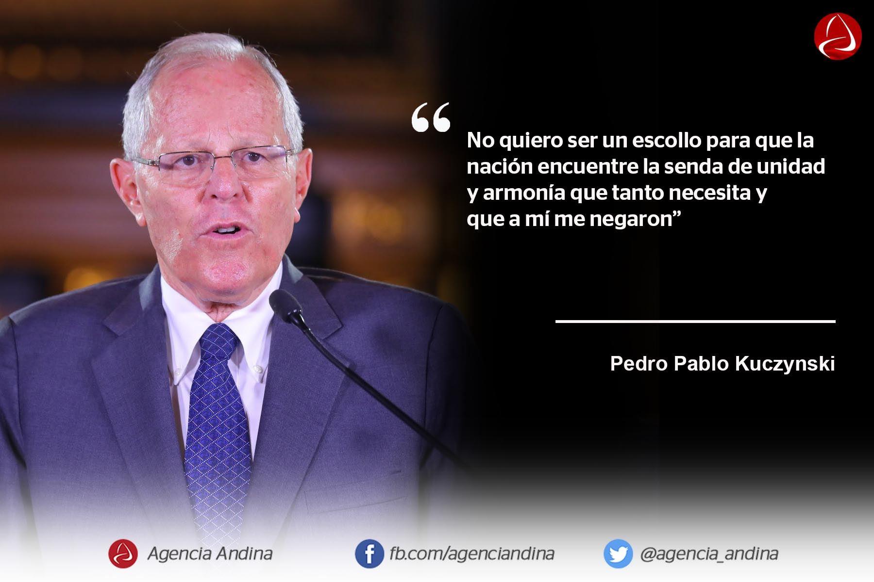 Las Frases De La Renuncia De Pedro Pablo Kuczynski A La
