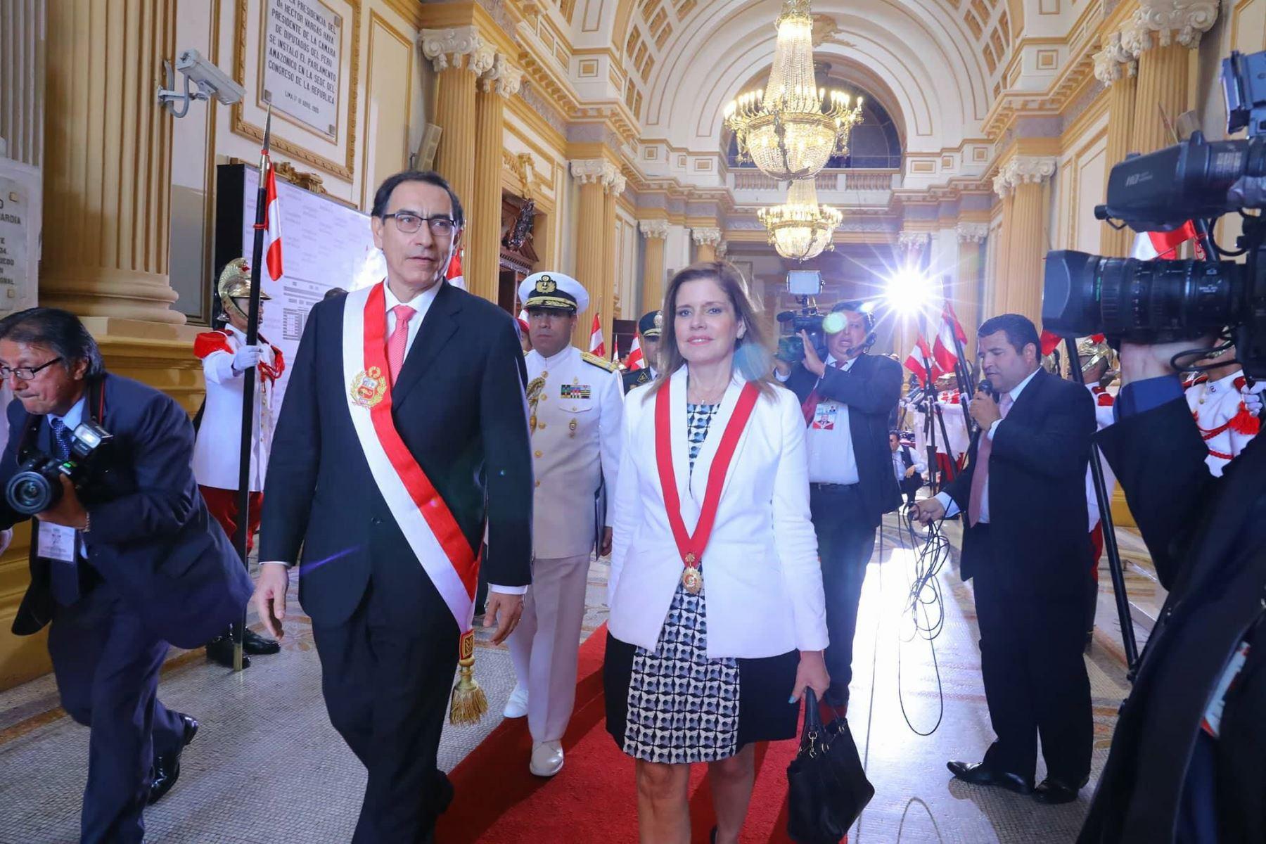 Martín Vizcarra juró como nuevo Presidente de la República. Foto: ANDINA/ Andrés Valle