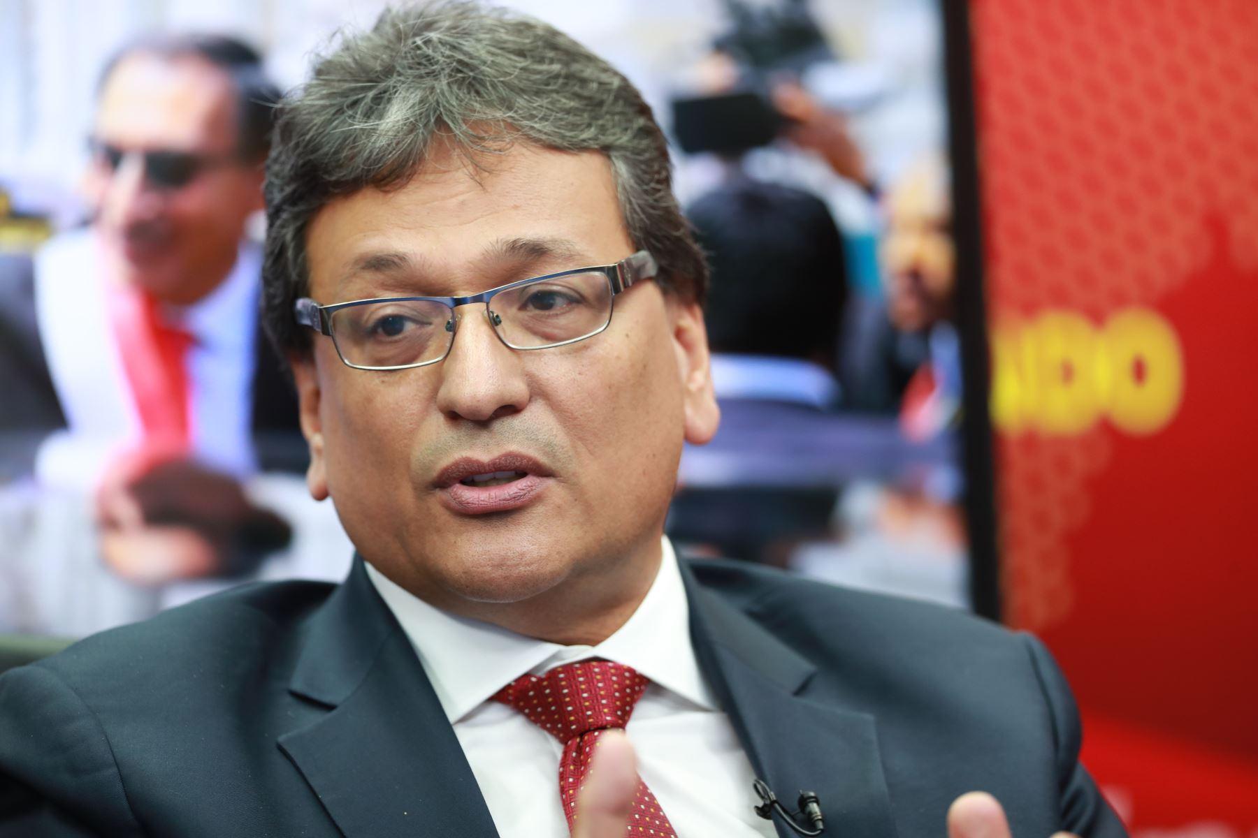 Director ejecutivo de Capeco, Guido Valdivia. ANDINA/Carlos Lezama