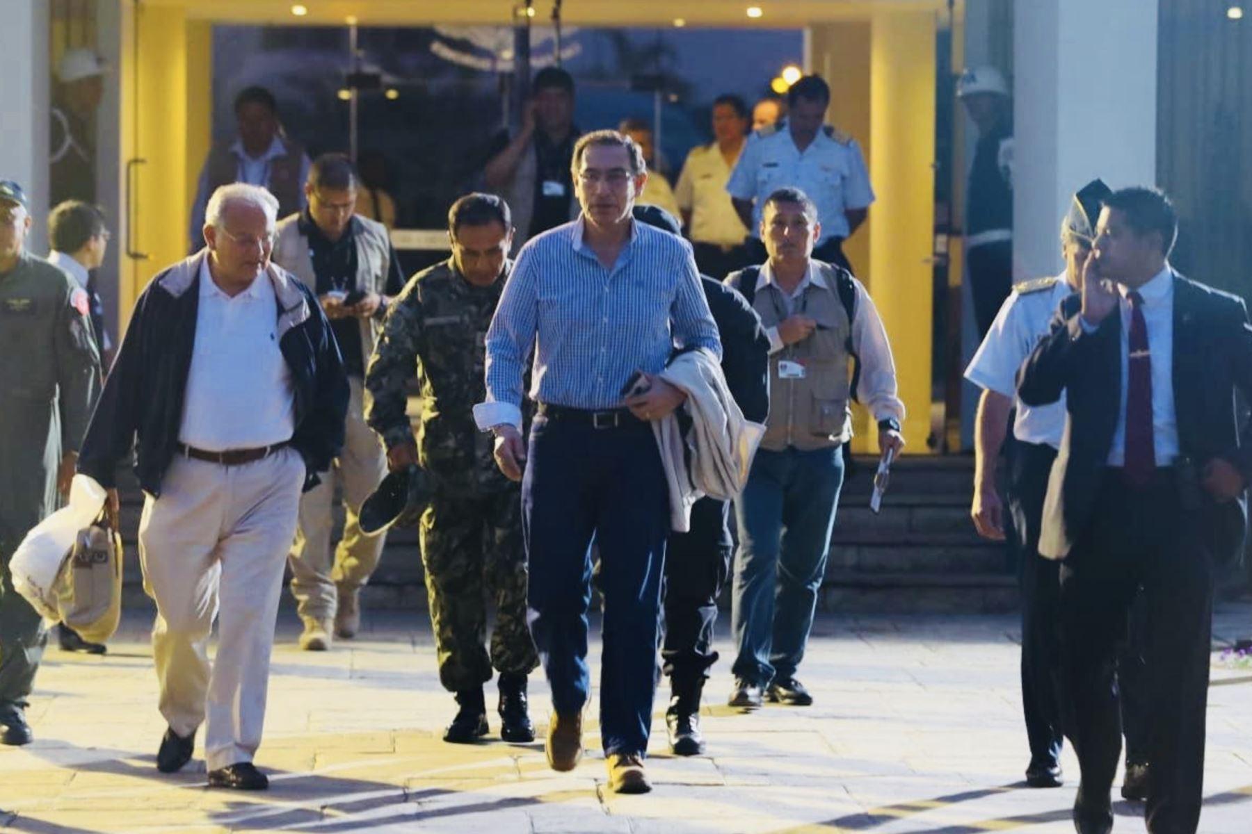 Presidente Vizcarra viaja a Piura para evaluar situación de damnificados. Foto: ANDINA/ Prensa Presidencia