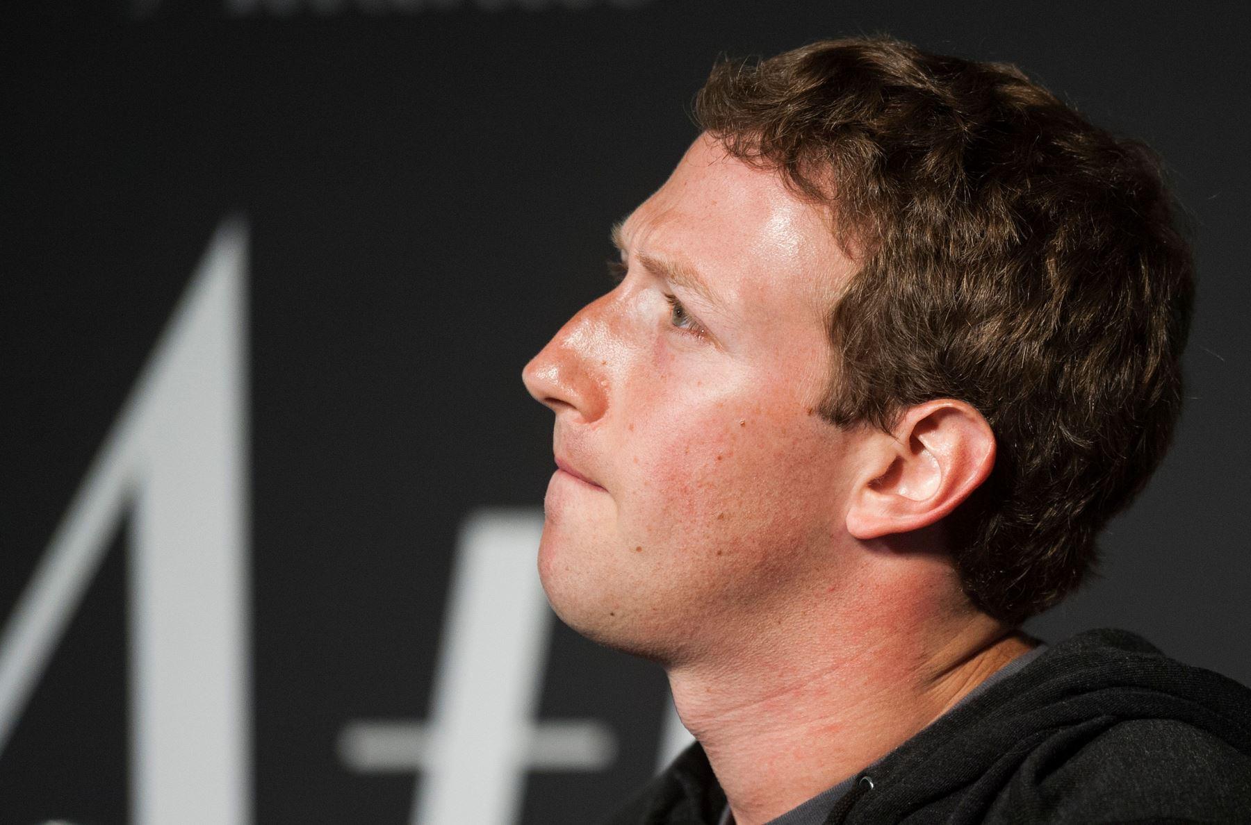 Fundador de Facebook, Mark Zuckerberg. Foto: AFP