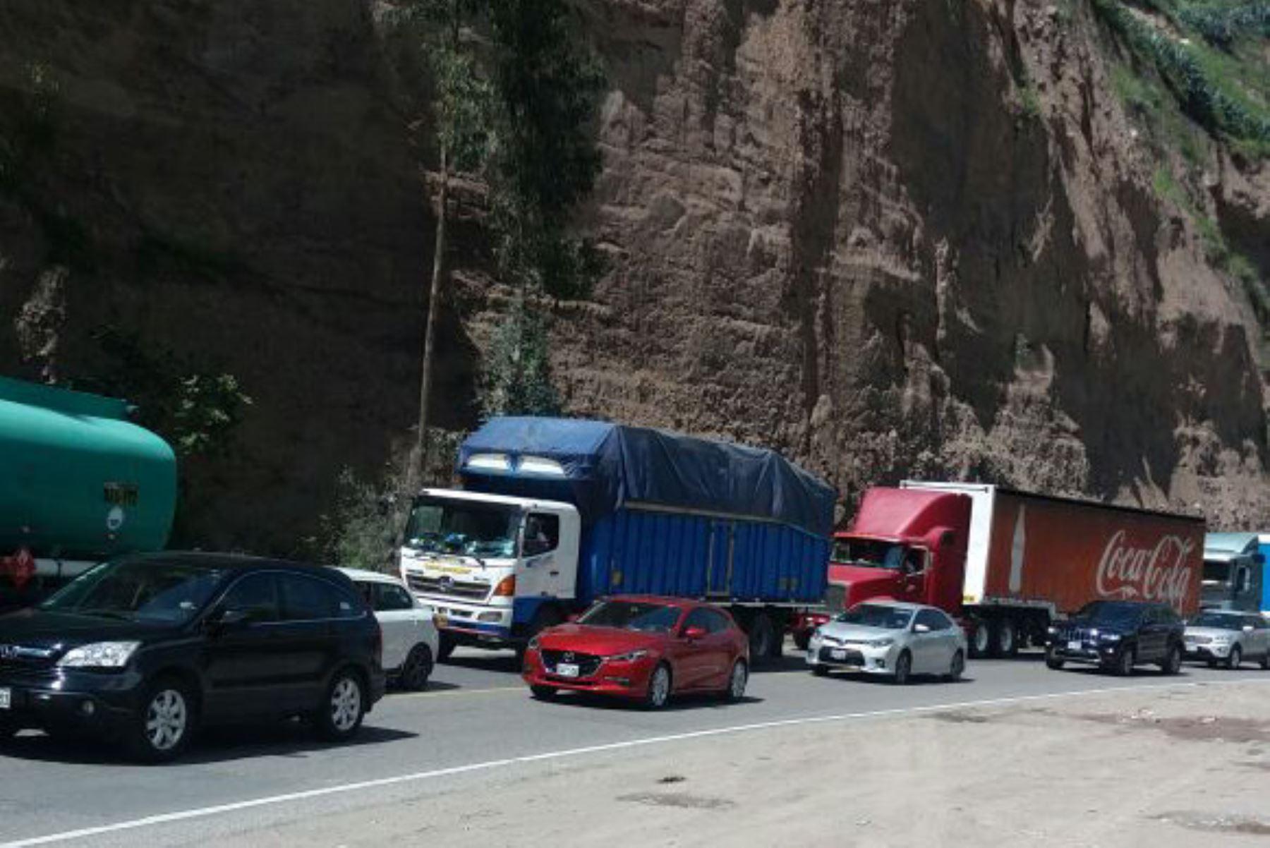 Carretera Central soporta ahora una lluvia intensa a la altura de La Oroya. ANDINA/Archivo