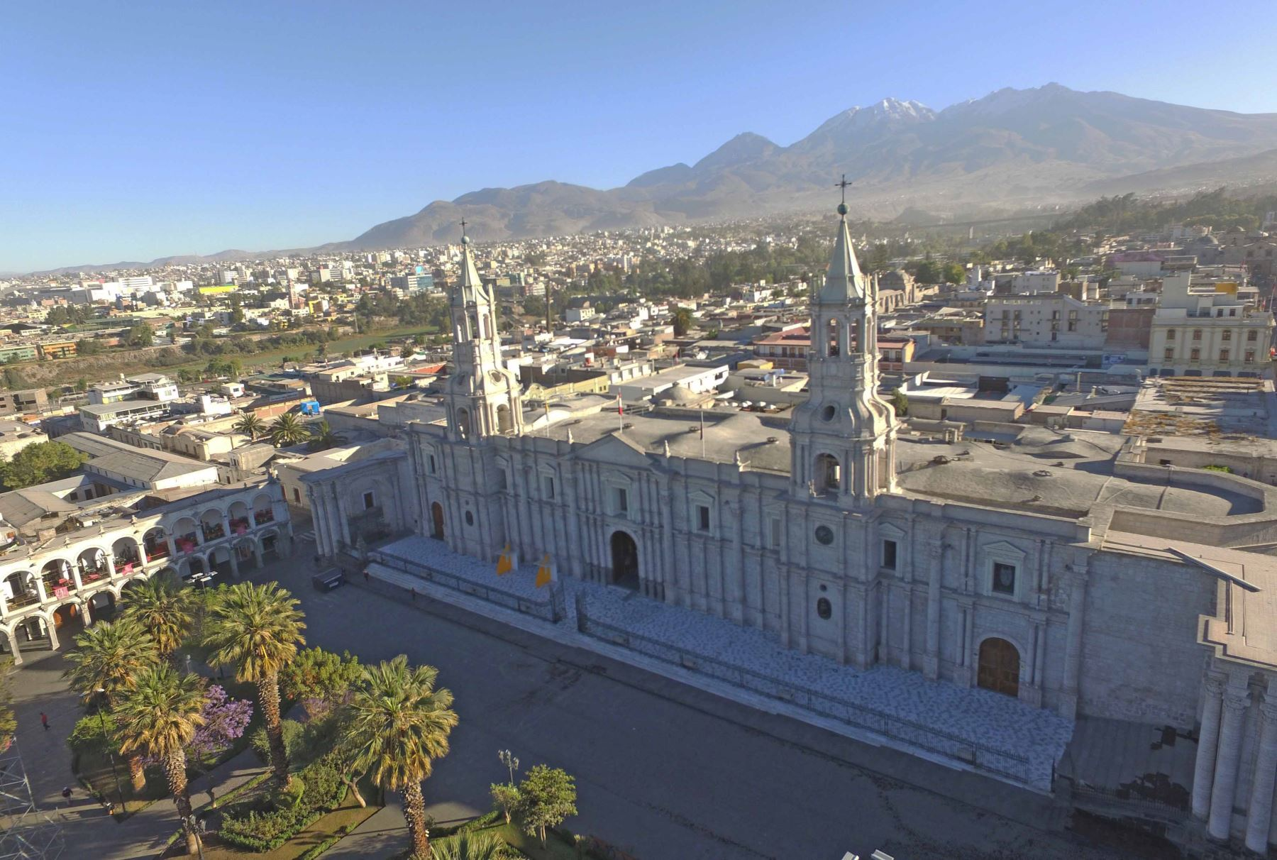 Arequipa fue remecida por un sismo. Foto: ANDINA/Jhony Laurente.