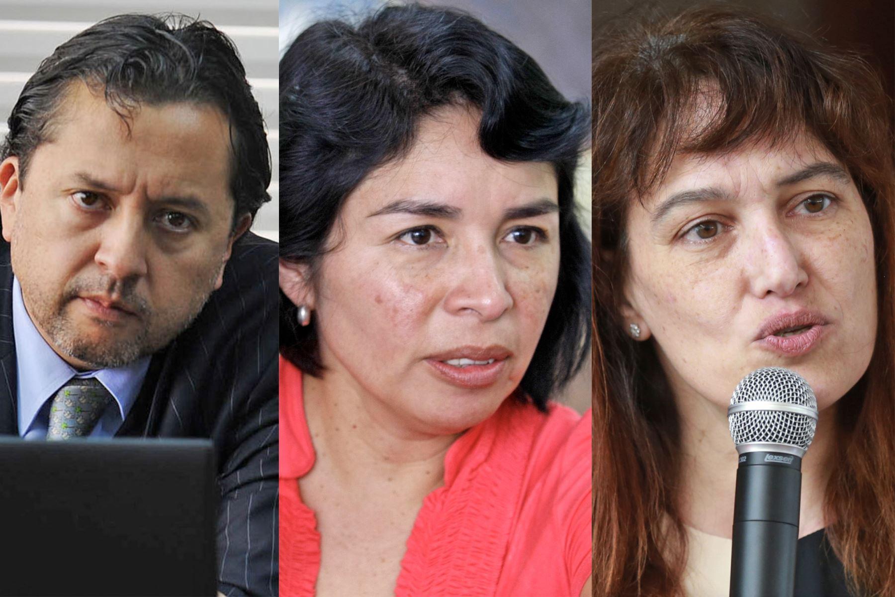 David Tuesta, Patricia Balbuena y Silvia Pessah