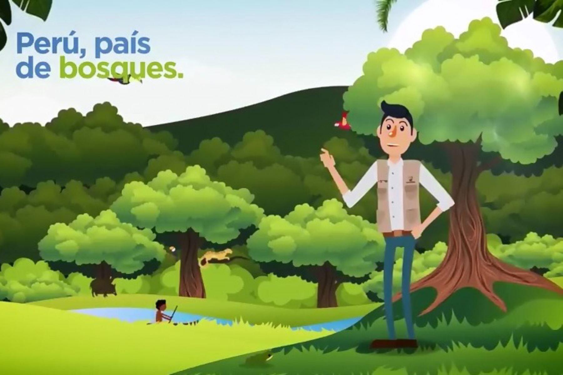 Con video educativo resaltan la importancia de los bosques. ANDINA/Difusión