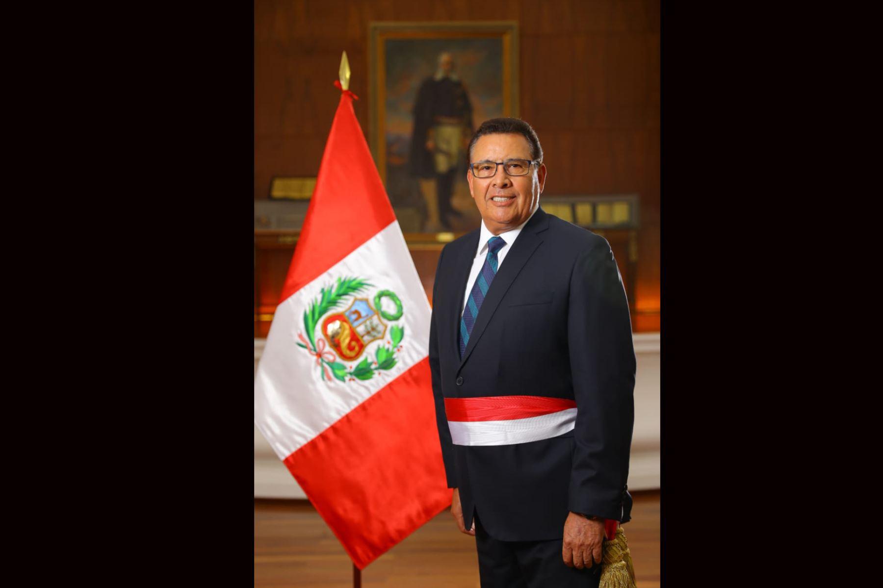 Ministerio de Defensa General (r) José Modesto Huerta Torres  Foto: ANDINA/ Prensa Presidencia