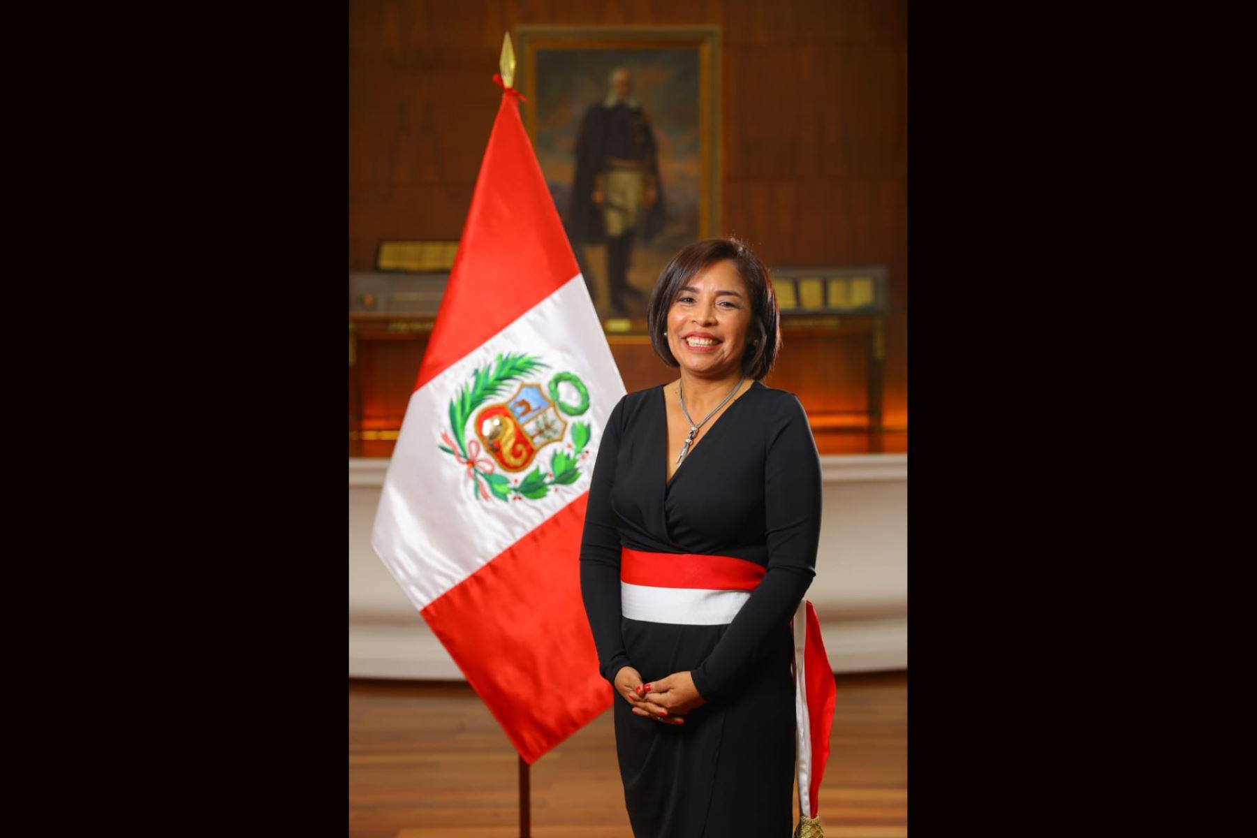 Ministerio de Cultura Patricia Balbuena Palacios. Foto: ANDINA/ Prensa Presidencia