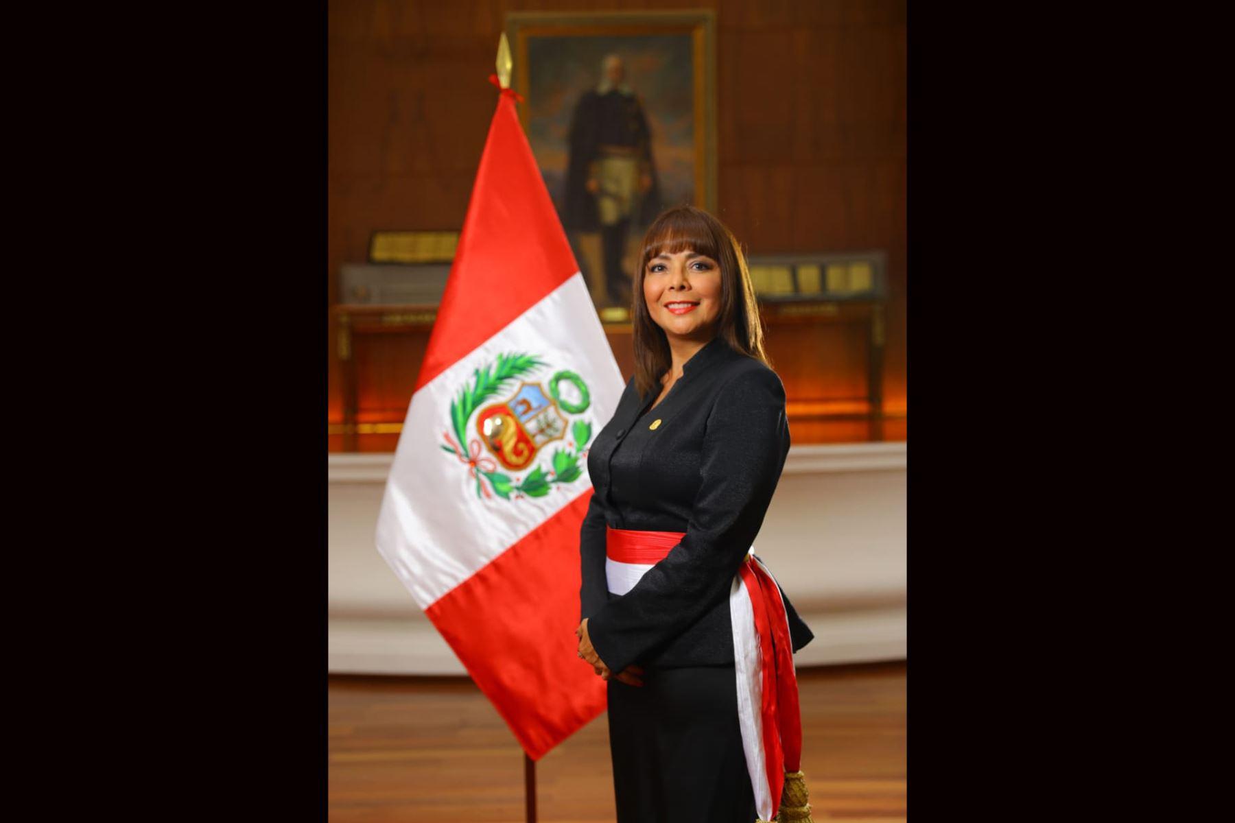 Liliana La Rosa Huertas, ministra de Desarrollo e Inclusión Social del primer gabinete del Presidente Martín Vizcarra. Foto: ANDINA/ Prensa Presidencia