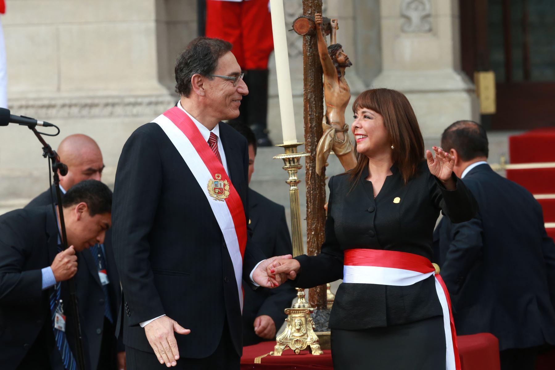 Juramentación de Liliana La Rosa como titular del Midis. Foto: ANDINA/Vidal Tarqui