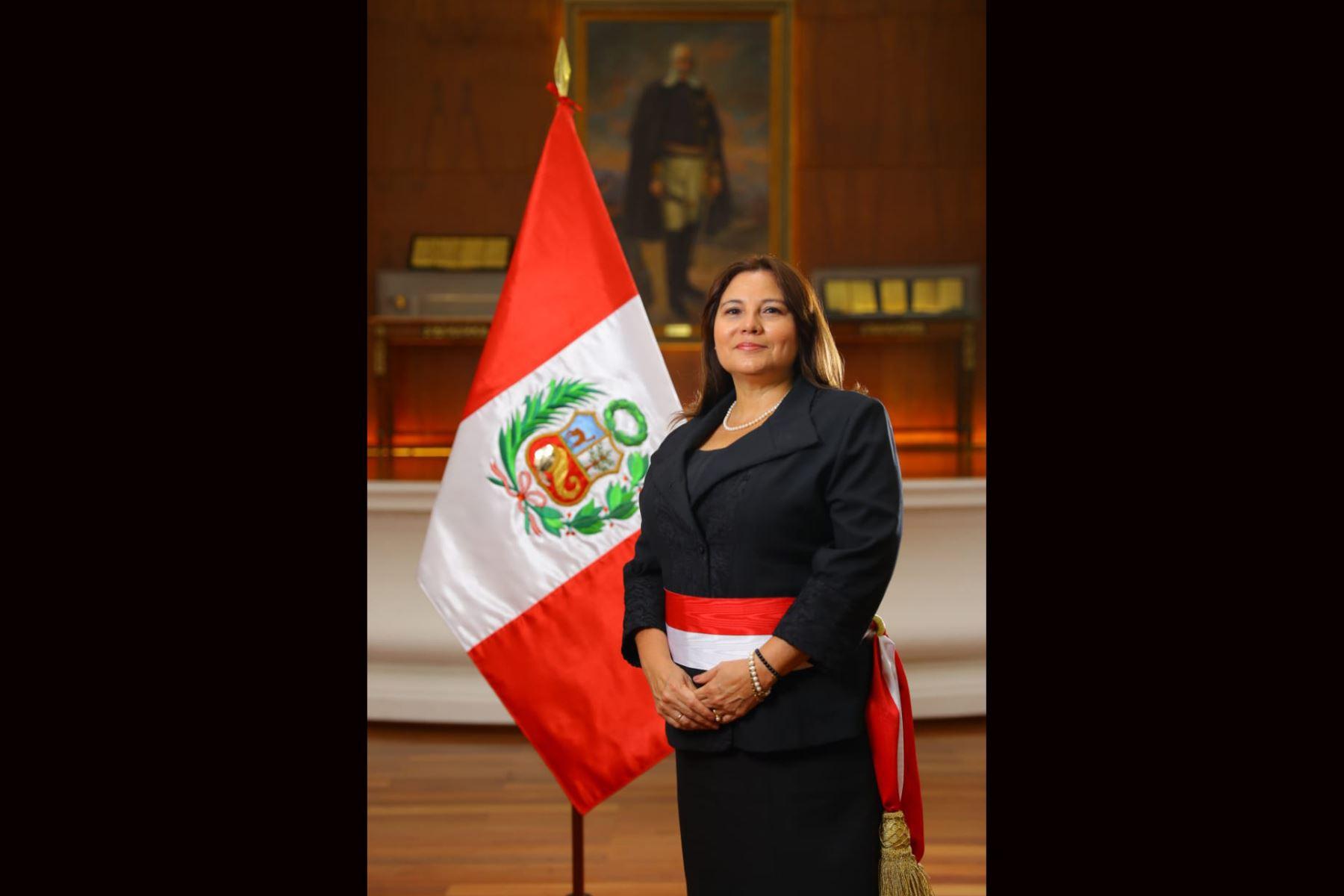 Ana María Mendieta, ministra de la Mujer y Poblaciones Vulnerables. Foto: ANDINA/ Prensa Presidencia