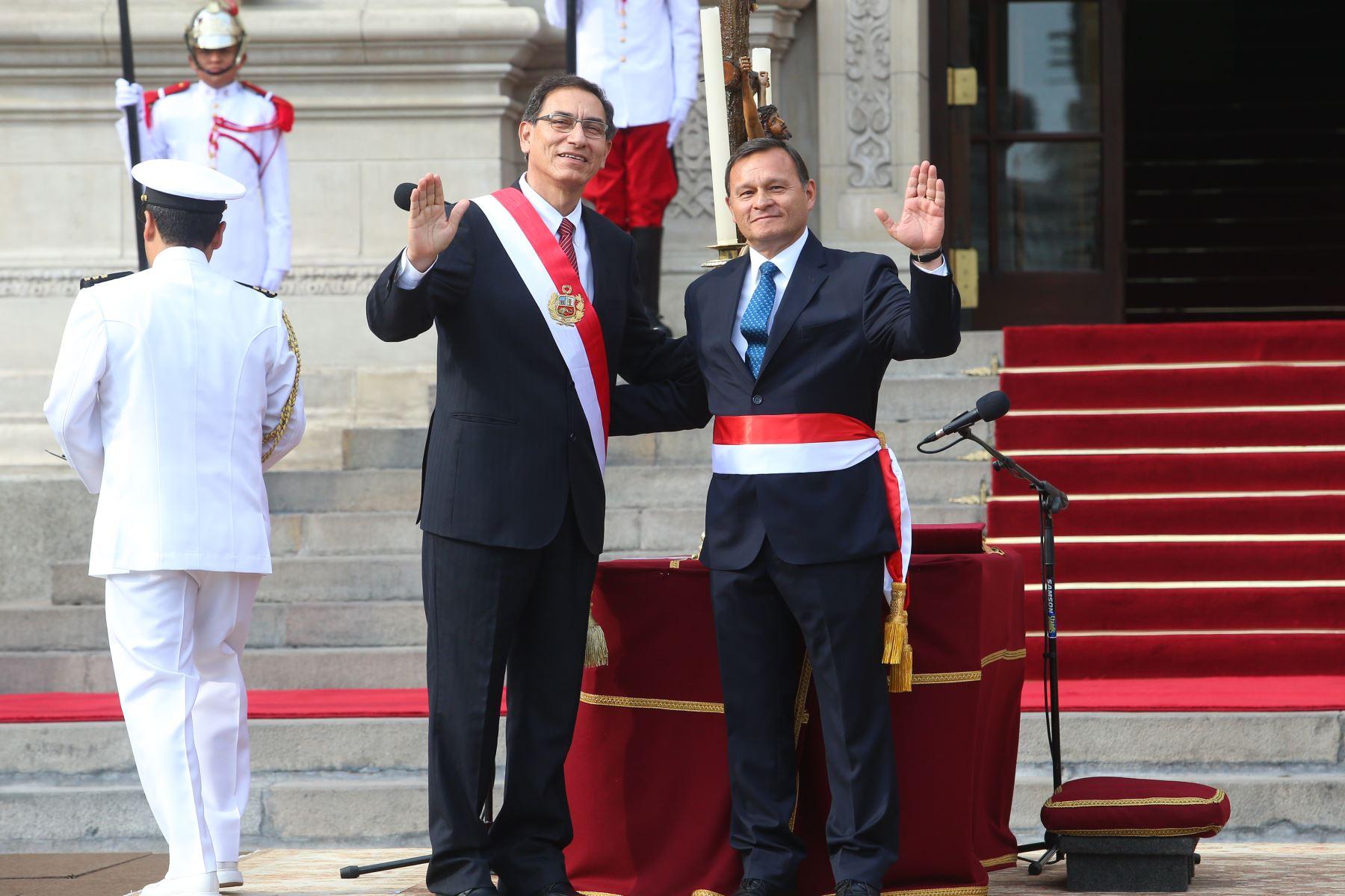 Juramentación de Néstor Popolizio Bardales como ministro de Relaciones Exteriores. Foto: ANDINA/ Prensa Presidencia.