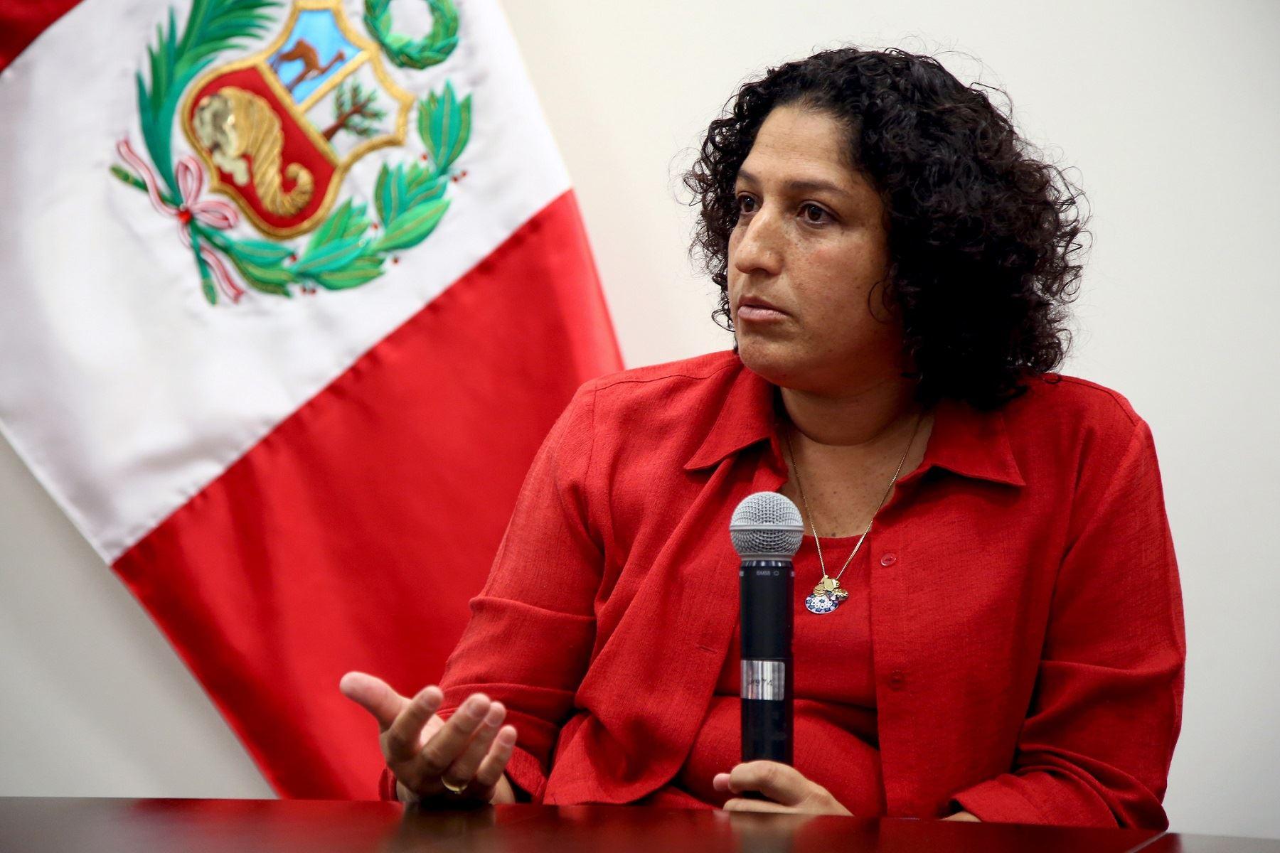 Ministra del Ambiente, Fabiola Muñoz.