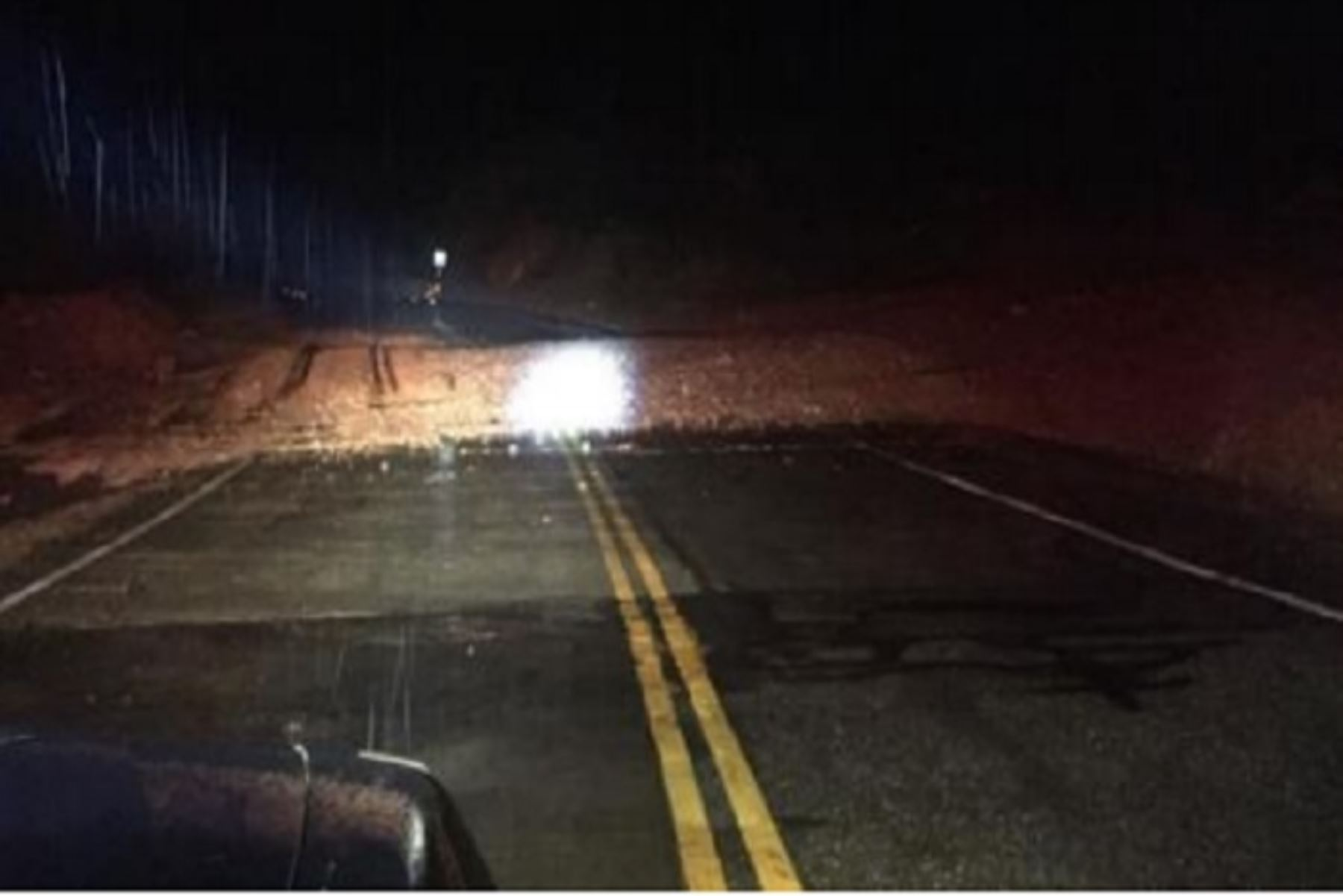 Cajamarca: deslizamientos bloquean tránsito en vía Fernando Belaunde Terry