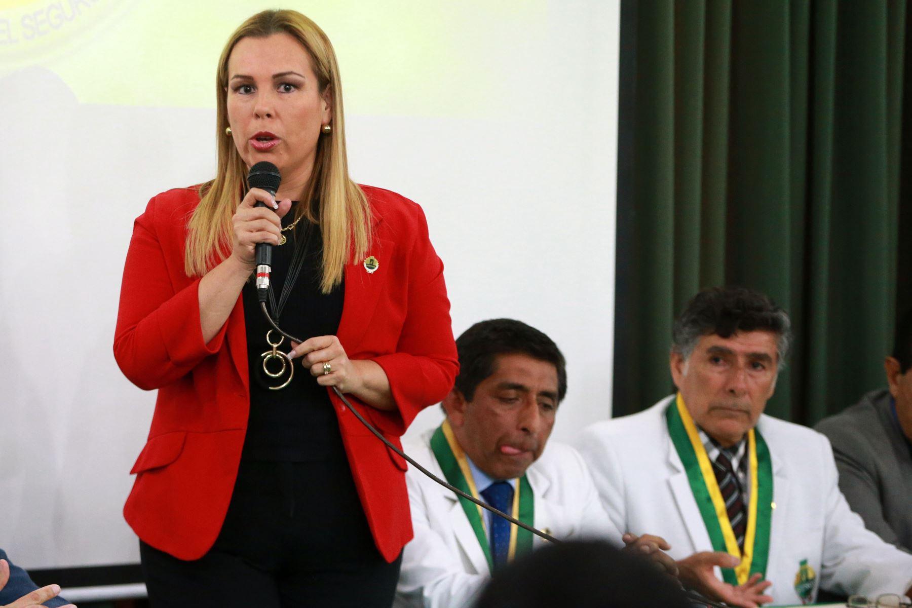 Fiorella Molinelli, presidenta de Essalud. Foto: ANDINA/Vidal Tarqui