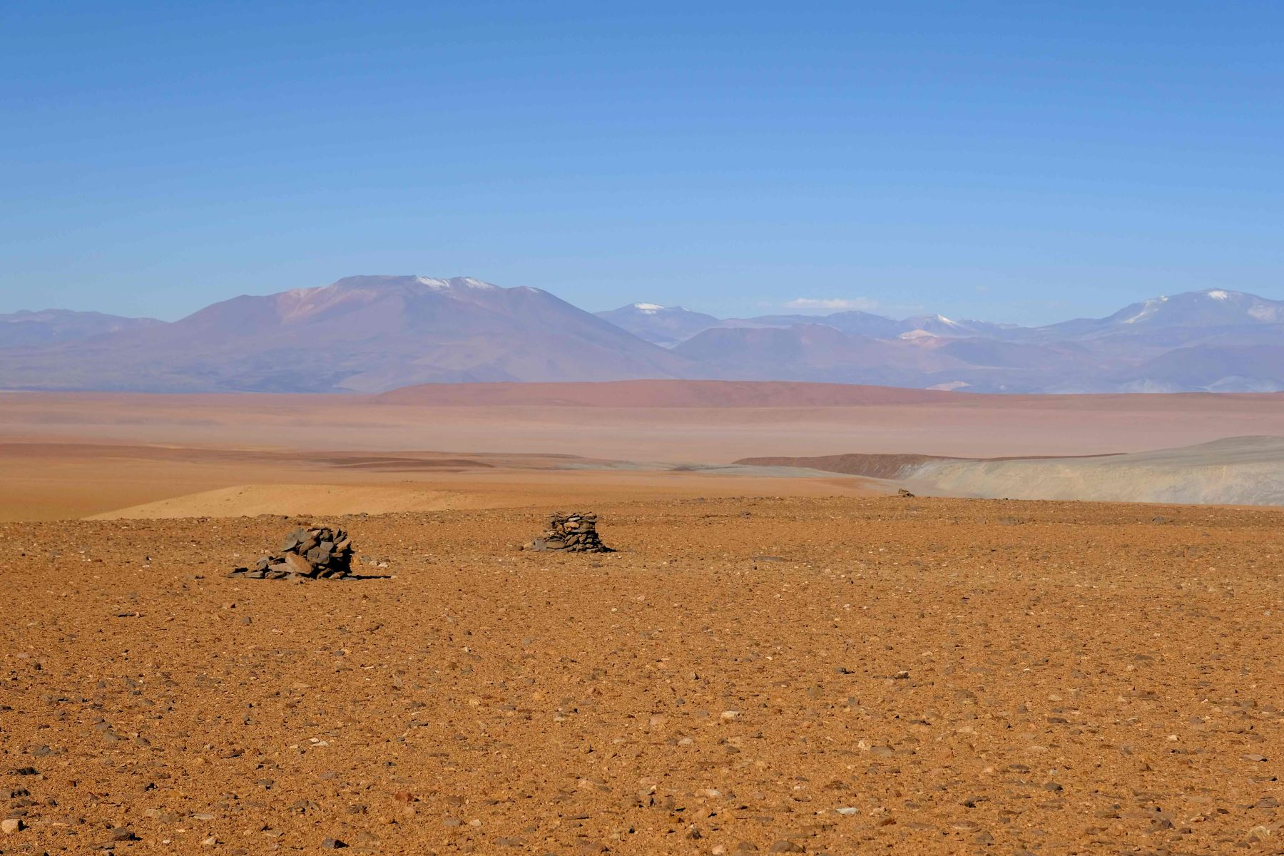 Calendario inca en el desierto de Atacama Foto: AFP