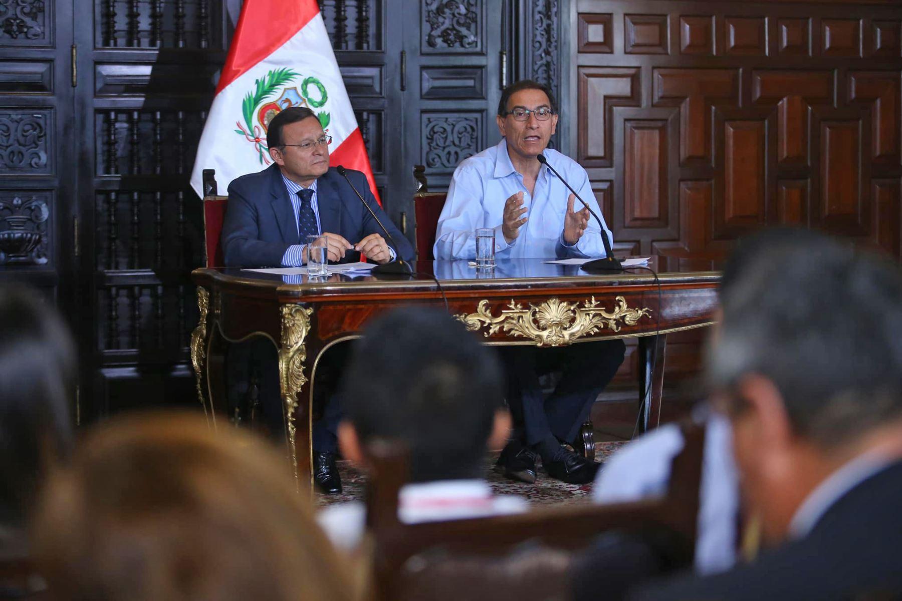 Foto: Presidente Martín Vizcarra .